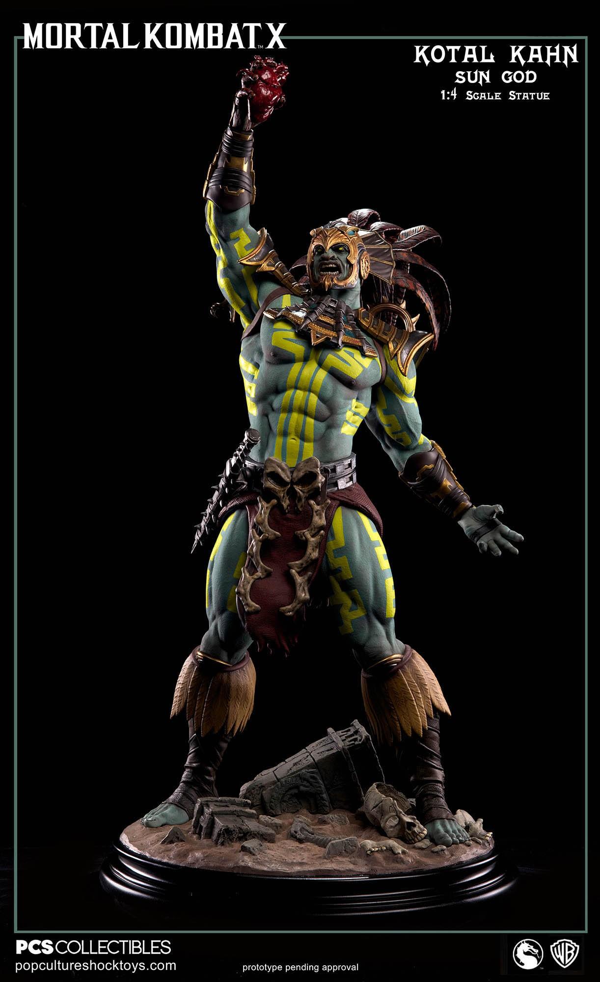 [Pop Culture Shock] Mortal Kombat X: Kotal Kahn 1:4 scale PCS-Kotal-Kahn-Sun-God-005