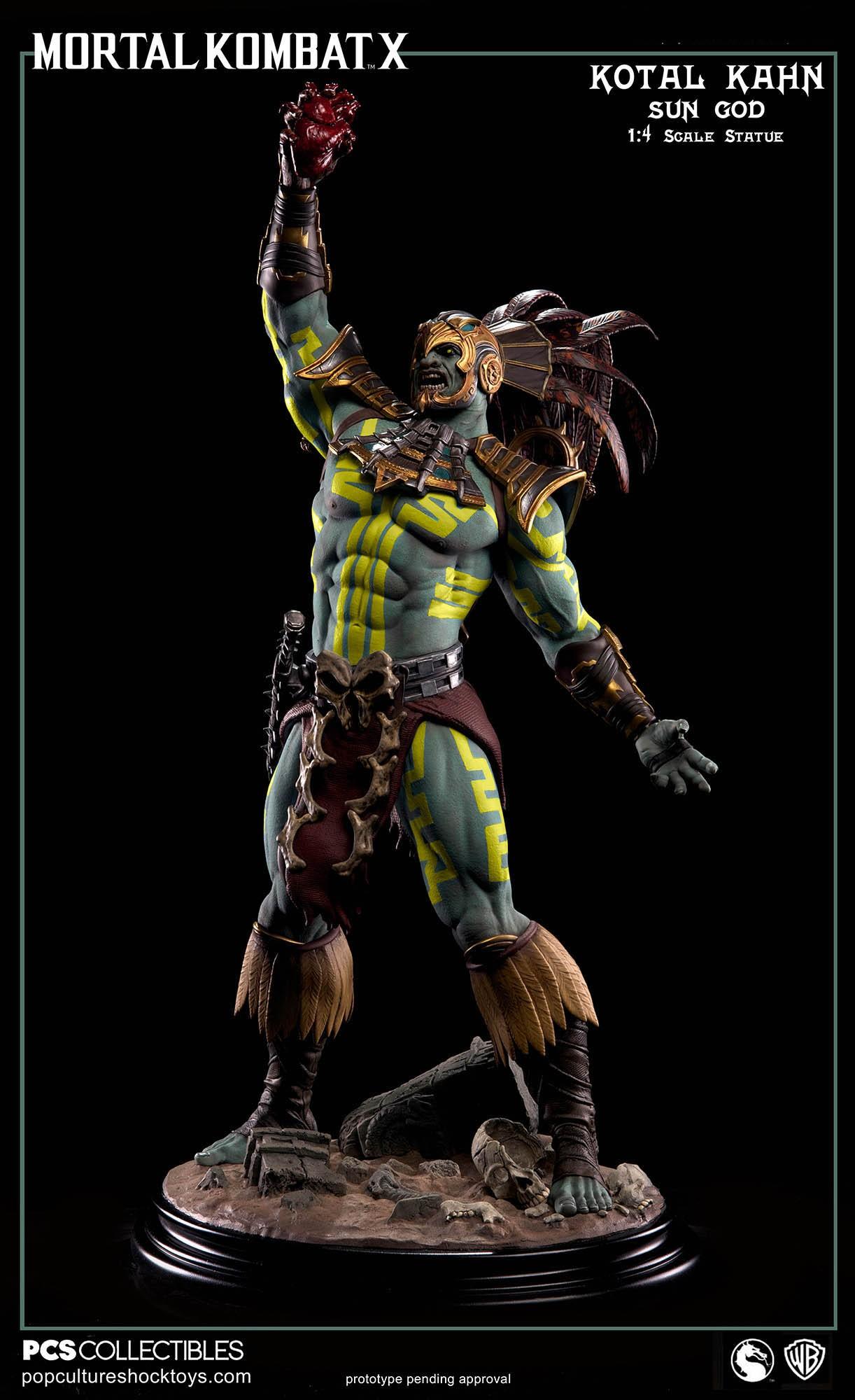 [Pop Culture Shock] Mortal Kombat X: Kotal Kahn 1:4 scale PCS-Kotal-Kahn-Sun-God-006