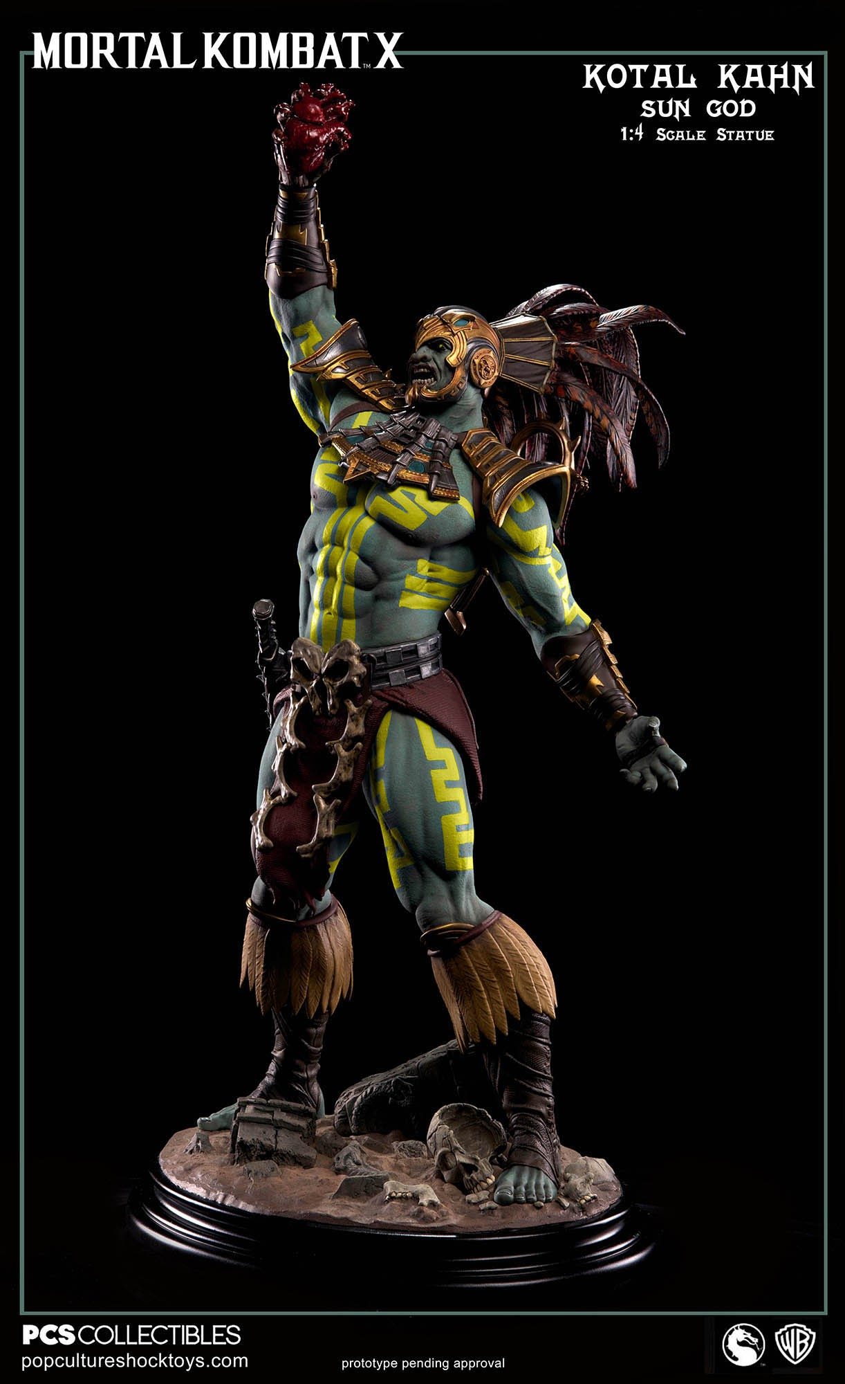 [Pop Culture Shock] Mortal Kombat X: Kotal Kahn 1:4 scale PCS-Kotal-Kahn-Sun-God-007