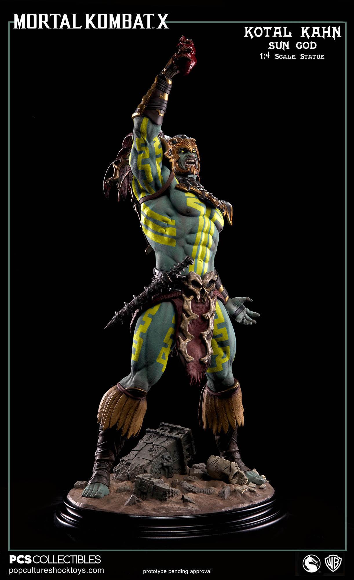 [Pop Culture Shock] Mortal Kombat X: Kotal Kahn 1:4 scale PCS-Kotal-Kahn-Sun-God-008