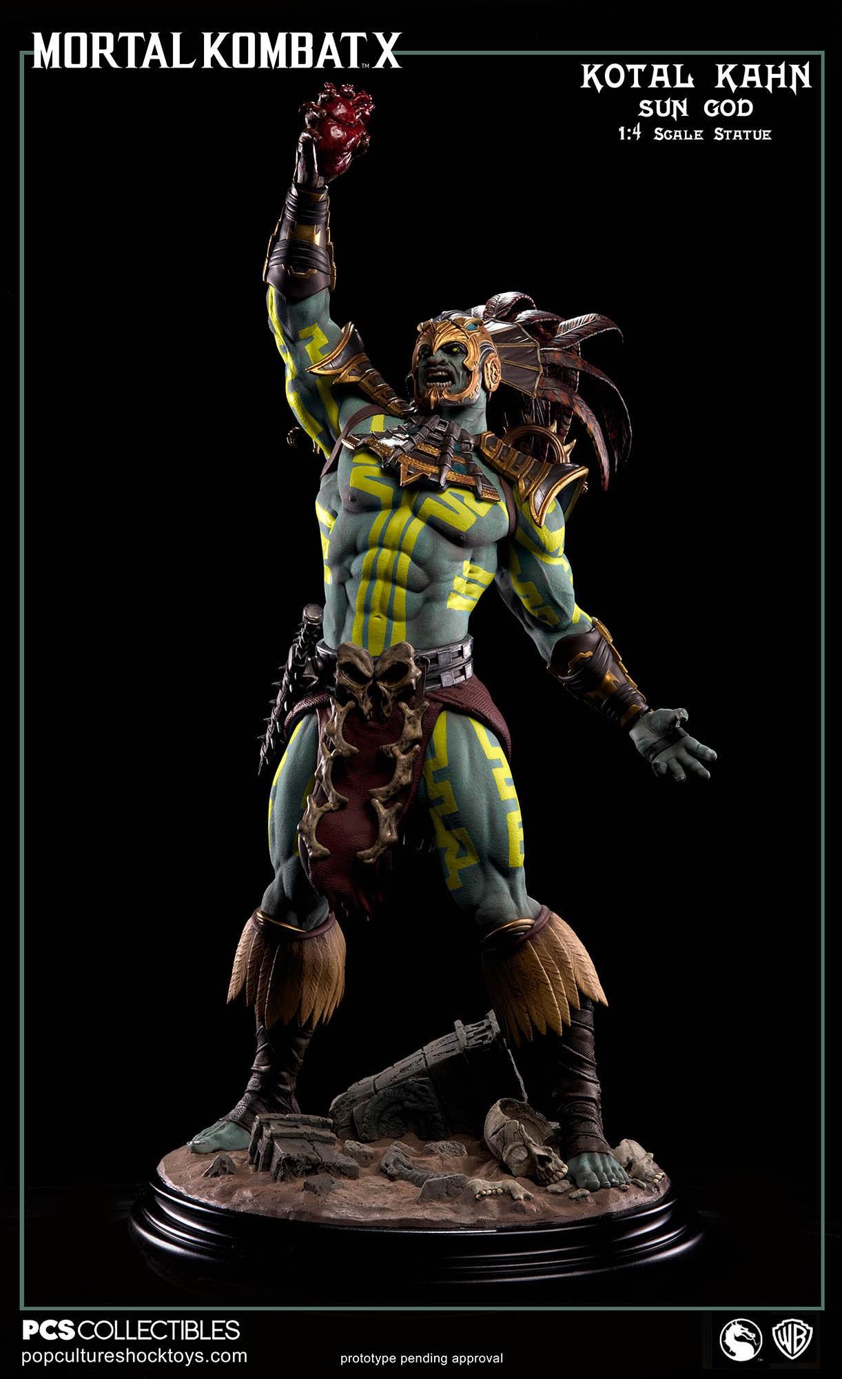 [Pop Culture Shock] Mortal Kombat X: Kotal Kahn 1:4 scale PCS-Kotal-Kahn-Sun-God-009