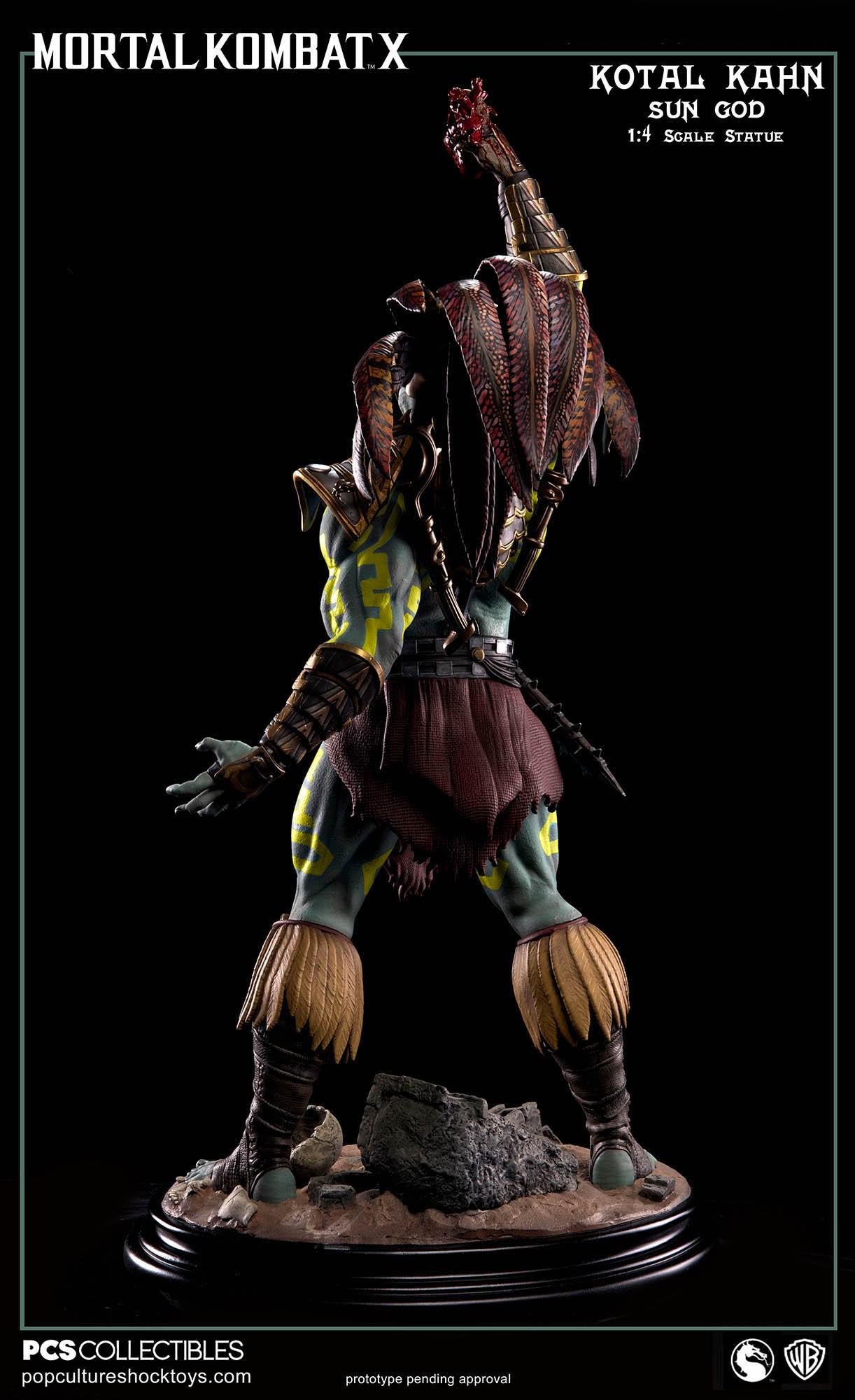 [Pop Culture Shock] Mortal Kombat X: Kotal Kahn 1:4 scale PCS-Kotal-Kahn-Sun-God-010