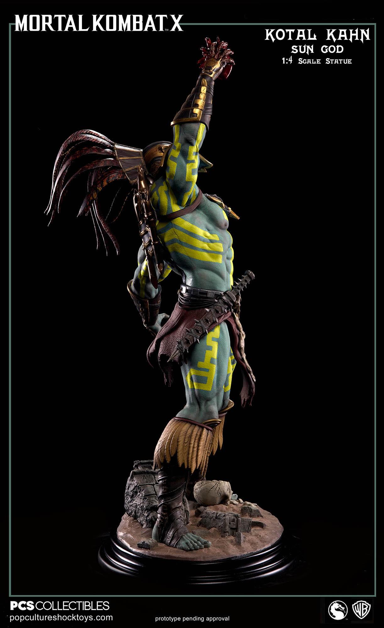 [Pop Culture Shock] Mortal Kombat X: Kotal Kahn 1:4 scale PCS-Kotal-Kahn-Sun-God-011