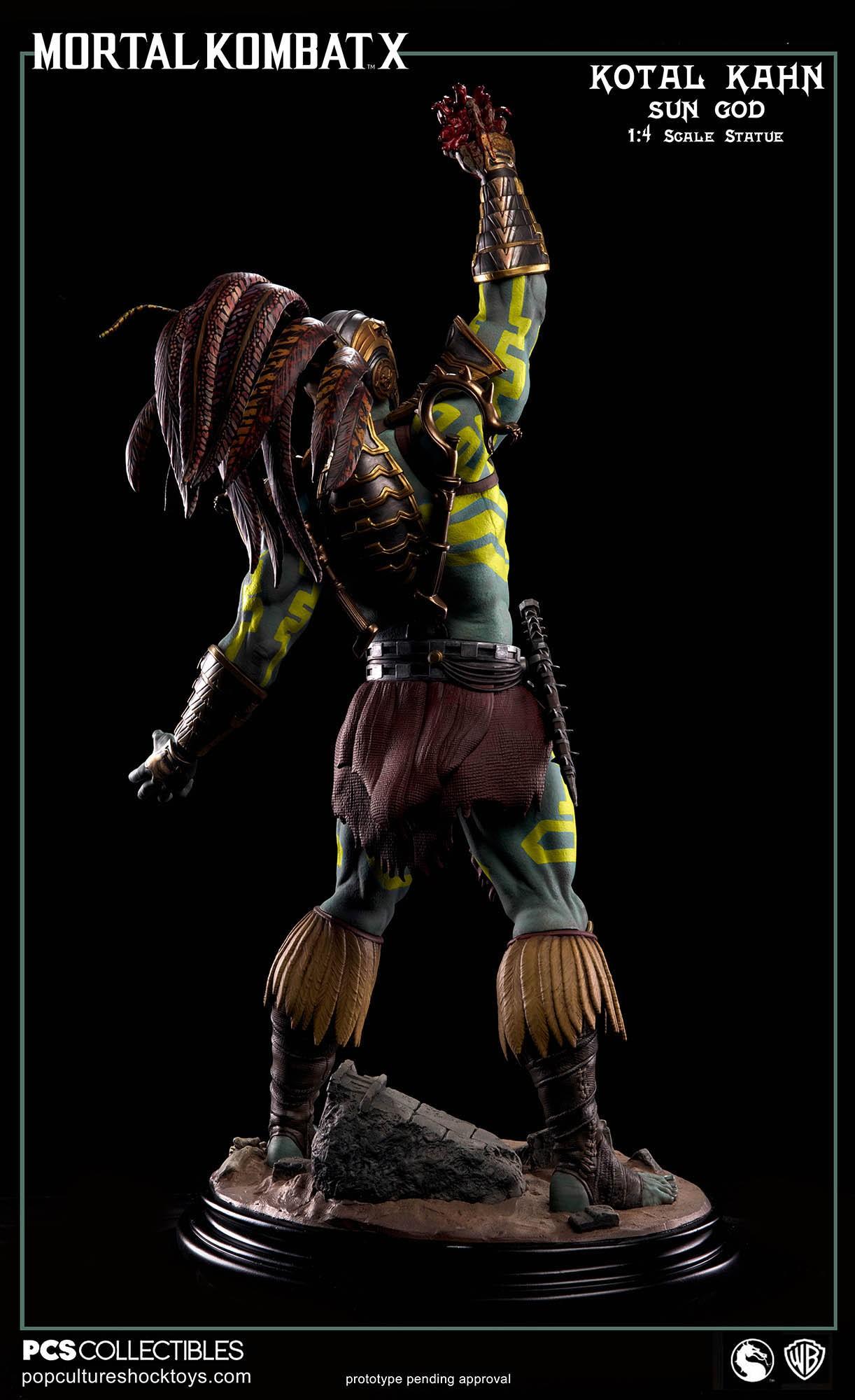[Pop Culture Shock] Mortal Kombat X: Kotal Kahn 1:4 scale PCS-Kotal-Kahn-Sun-God-012