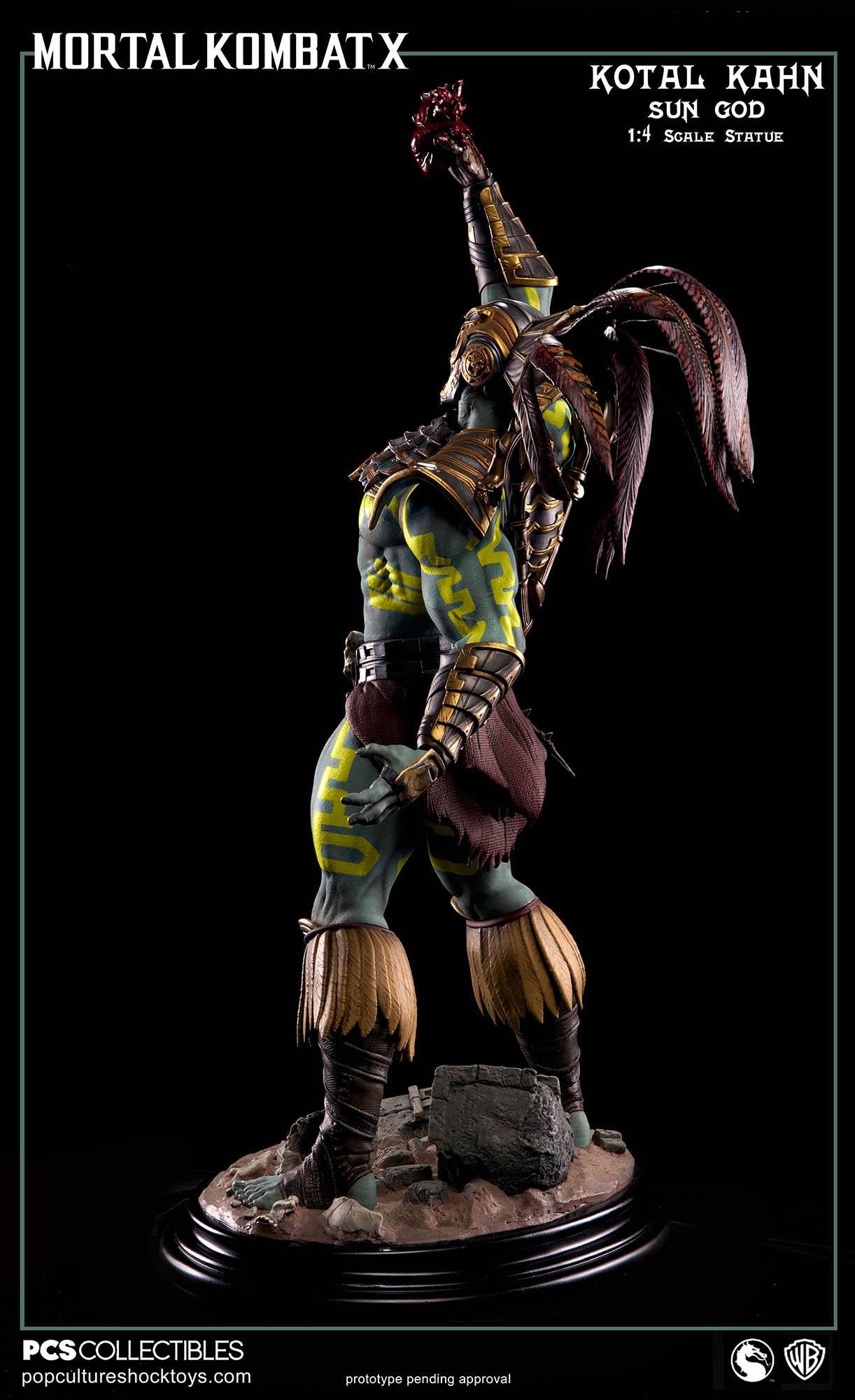 [Pop Culture Shock] Mortal Kombat X: Kotal Kahn 1:4 scale PCS-Kotal-Kahn-Sun-God-013