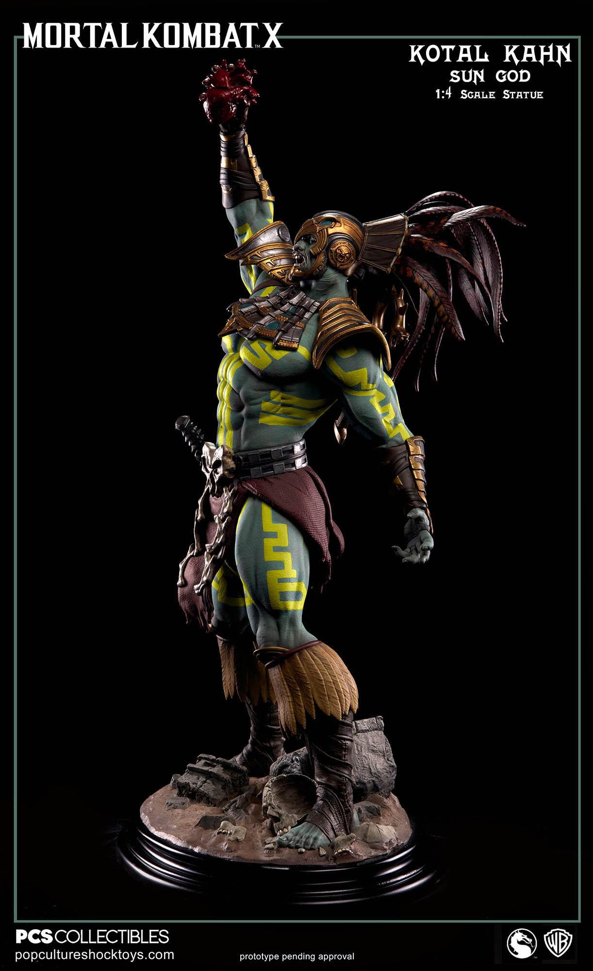 [Pop Culture Shock] Mortal Kombat X: Kotal Kahn 1:4 scale PCS-Kotal-Kahn-Sun-God-014