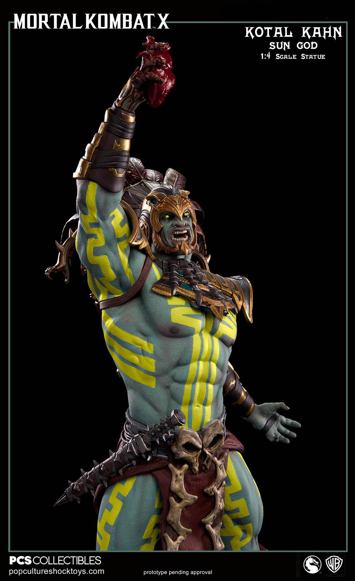 [Pop Culture Shock] Mortal Kombat X: Kotal Kahn 1:4 scale PCS-Kotal-Kahn-Sun-God-015
