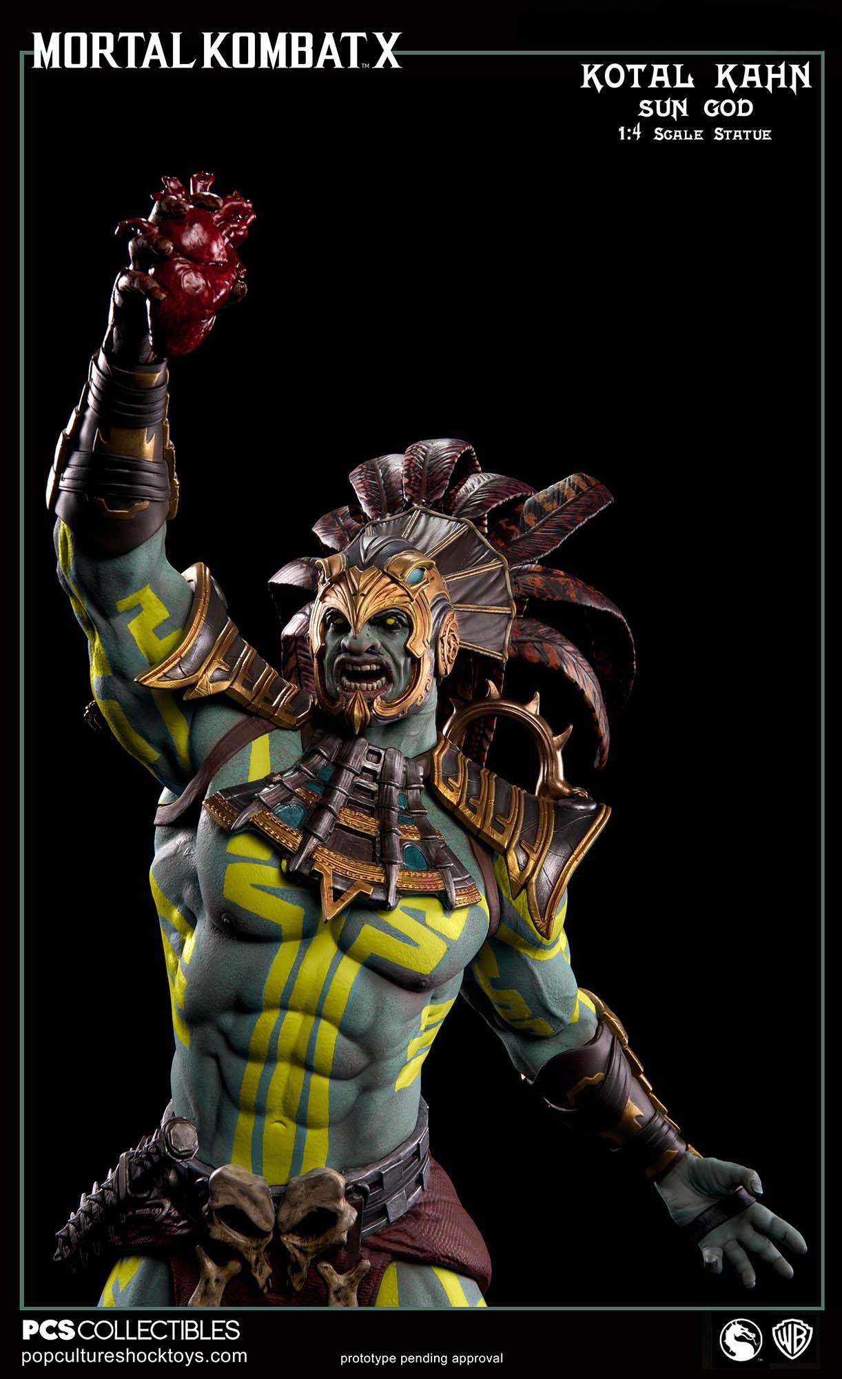 [Pop Culture Shock] Mortal Kombat X: Kotal Kahn 1:4 scale PCS-Kotal-Kahn-Sun-God-017