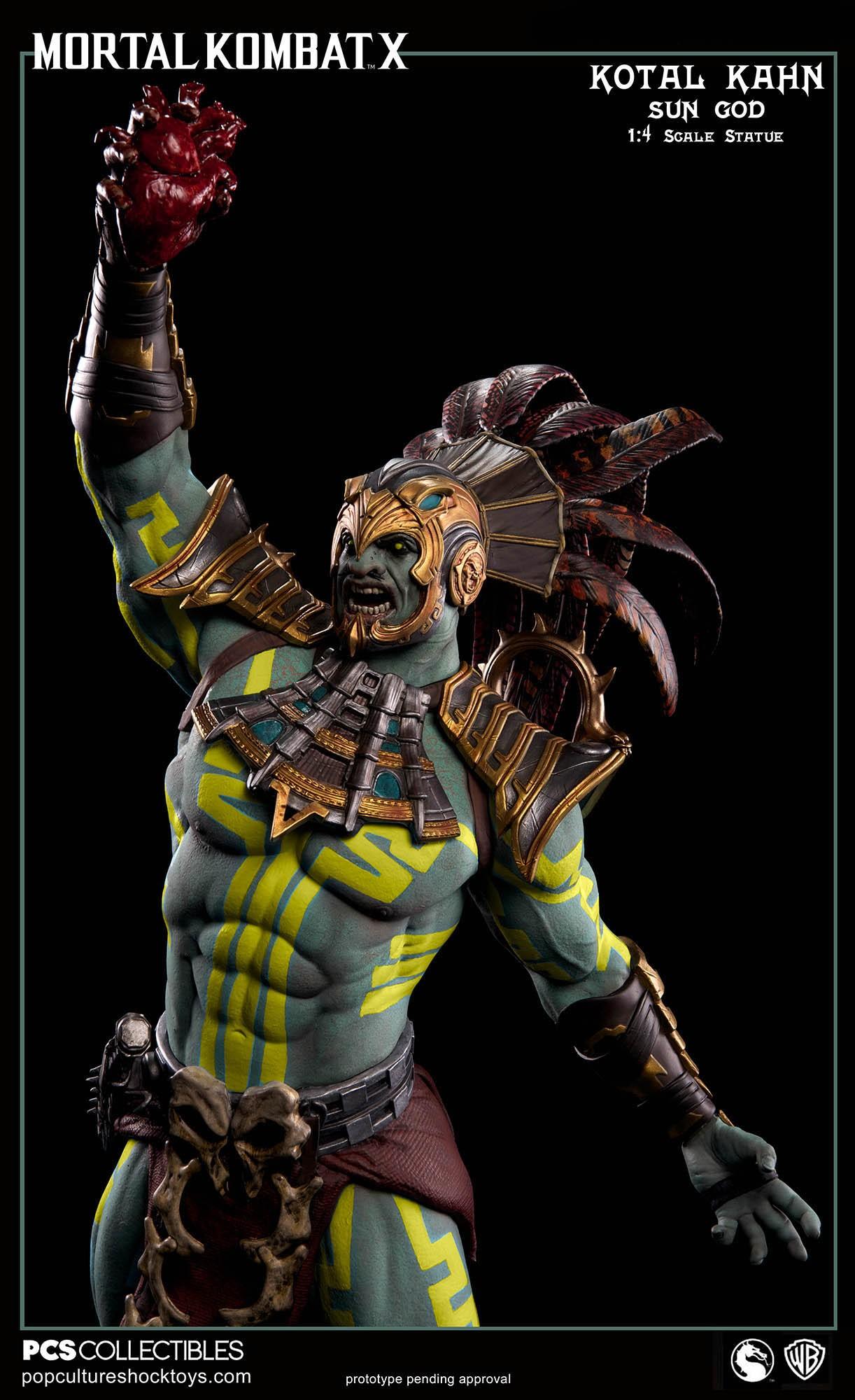 [Pop Culture Shock] Mortal Kombat X: Kotal Kahn 1:4 scale PCS-Kotal-Kahn-Sun-God-018
