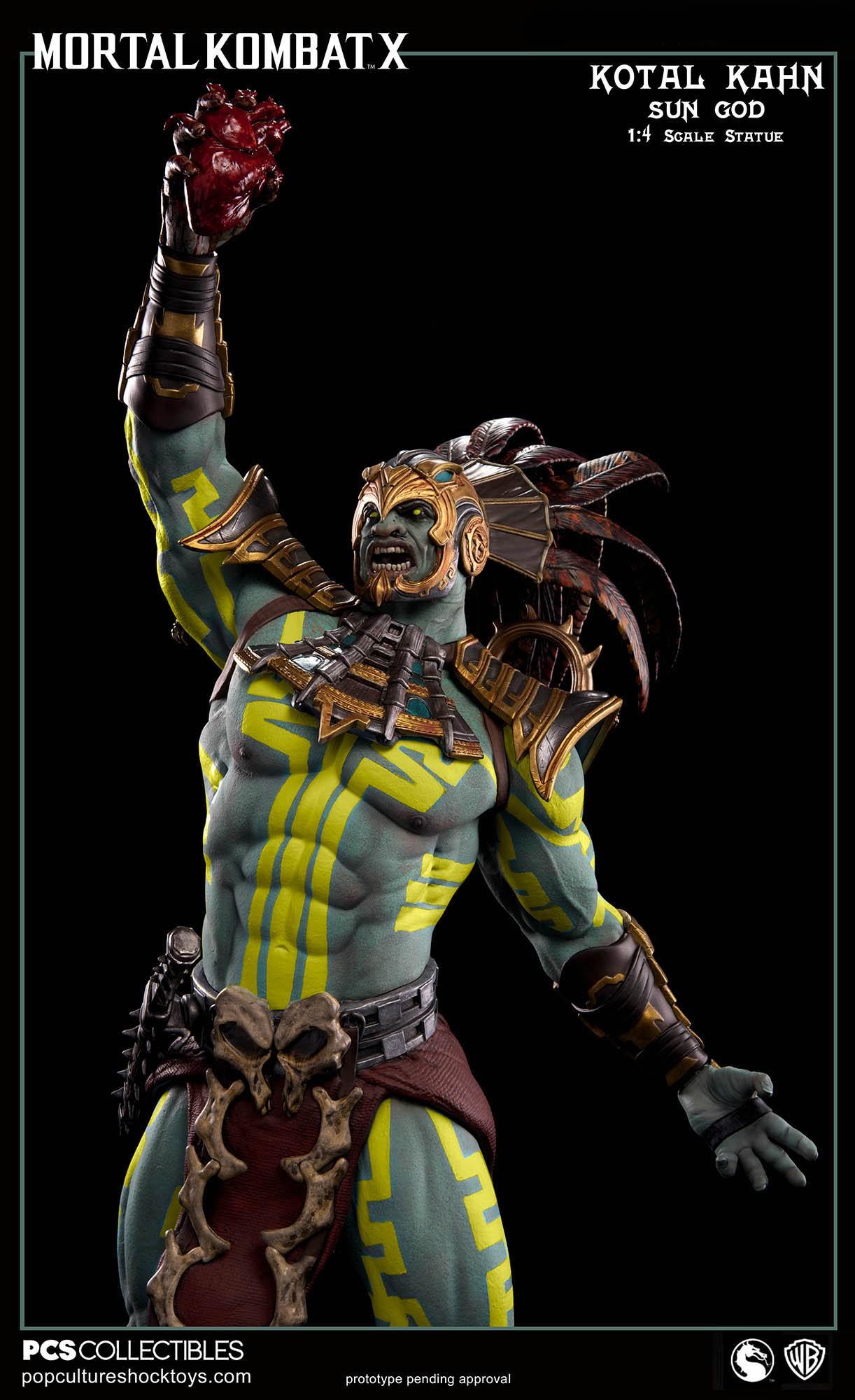 [Pop Culture Shock] Mortal Kombat X: Kotal Kahn 1:4 scale PCS-Kotal-Kahn-Sun-God-019
