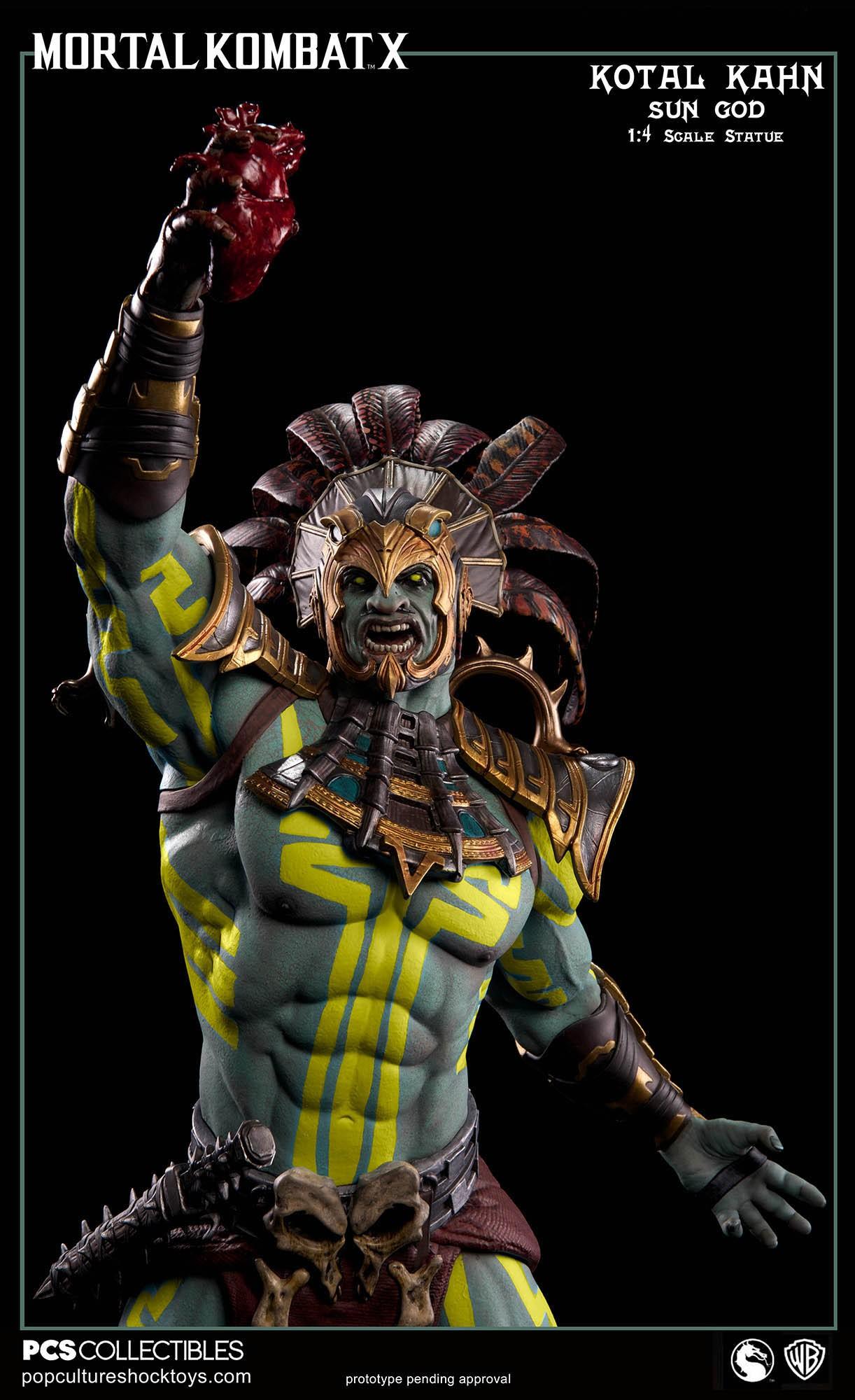 [Pop Culture Shock] Mortal Kombat X: Kotal Kahn 1:4 scale PCS-Kotal-Kahn-Sun-God-020