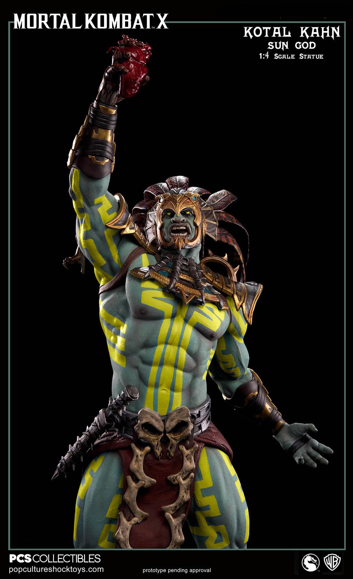 [Pop Culture Shock] Mortal Kombat X: Kotal Kahn 1:4 scale PCS-Kotal-Kahn-Sun-God-021