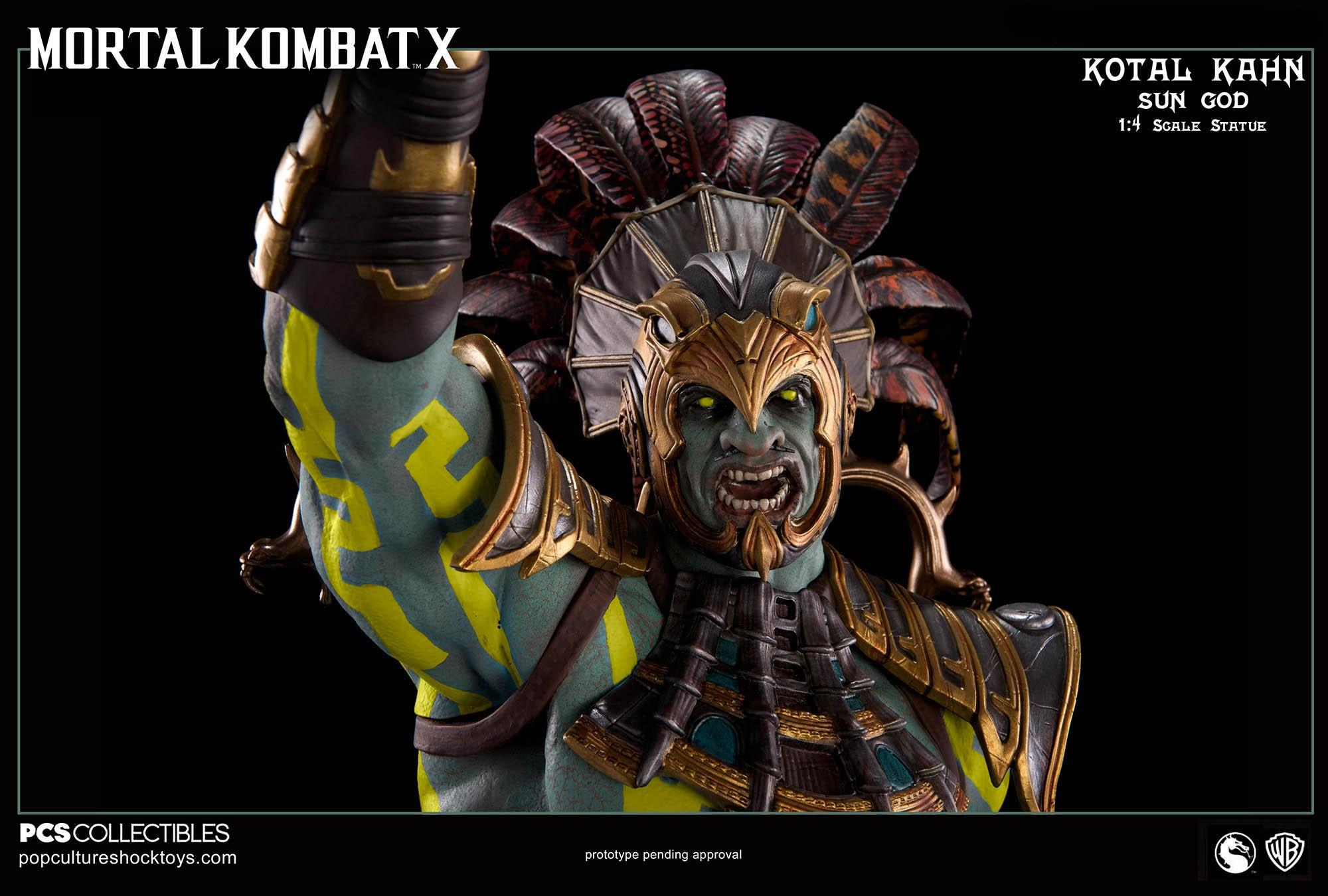 [Pop Culture Shock] Mortal Kombat X: Kotal Kahn 1:4 scale PCS-Kotal-Kahn-Sun-God-022