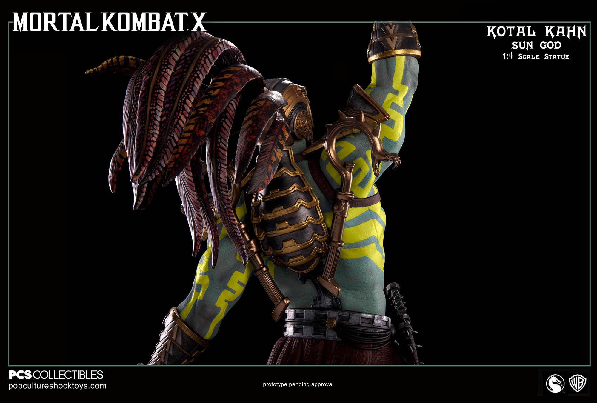 [Pop Culture Shock] Mortal Kombat X: Kotal Kahn 1:4 scale PCS-Kotal-Kahn-Sun-God-023