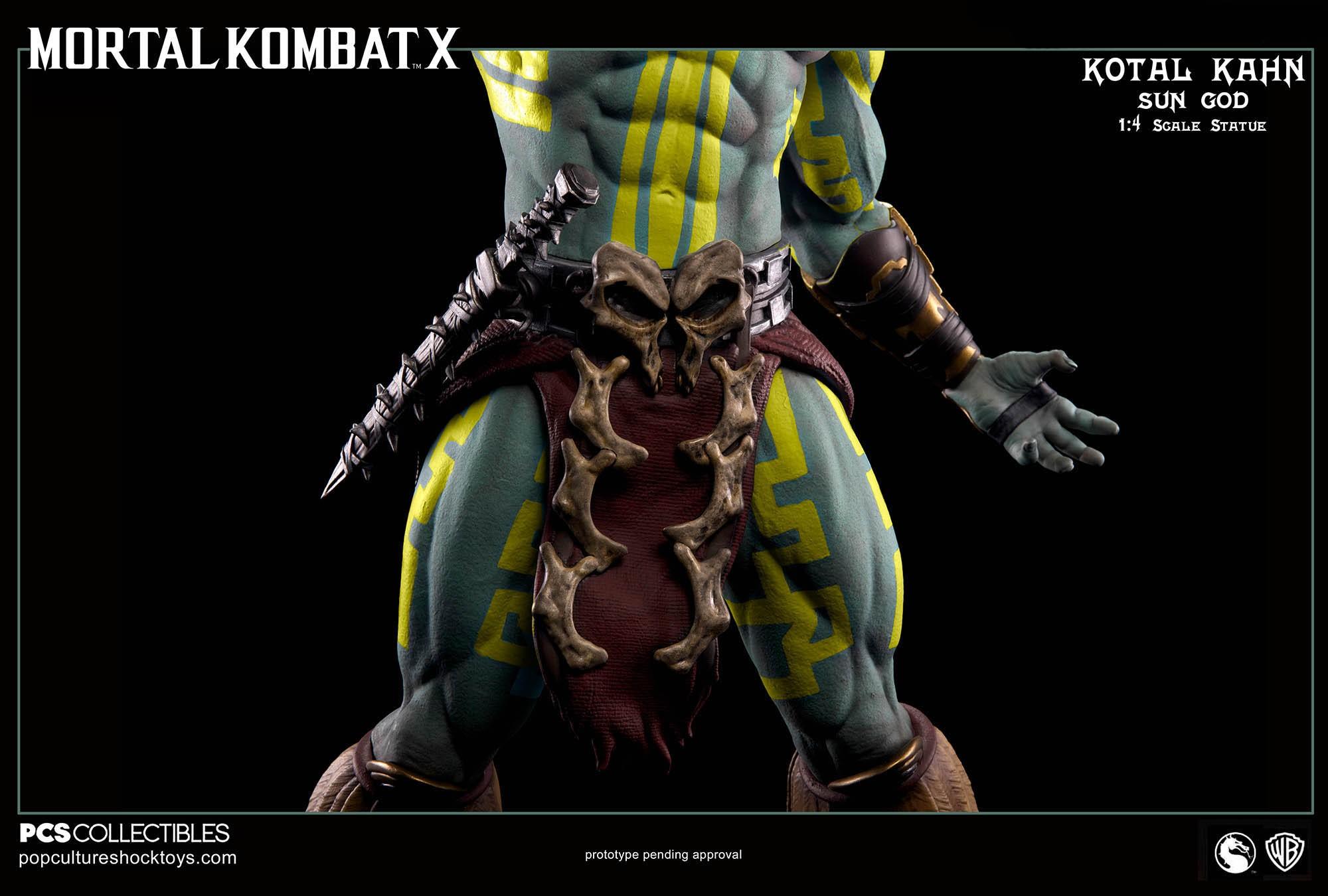 [Pop Culture Shock] Mortal Kombat X: Kotal Kahn 1:4 scale PCS-Kotal-Kahn-Sun-God-024
