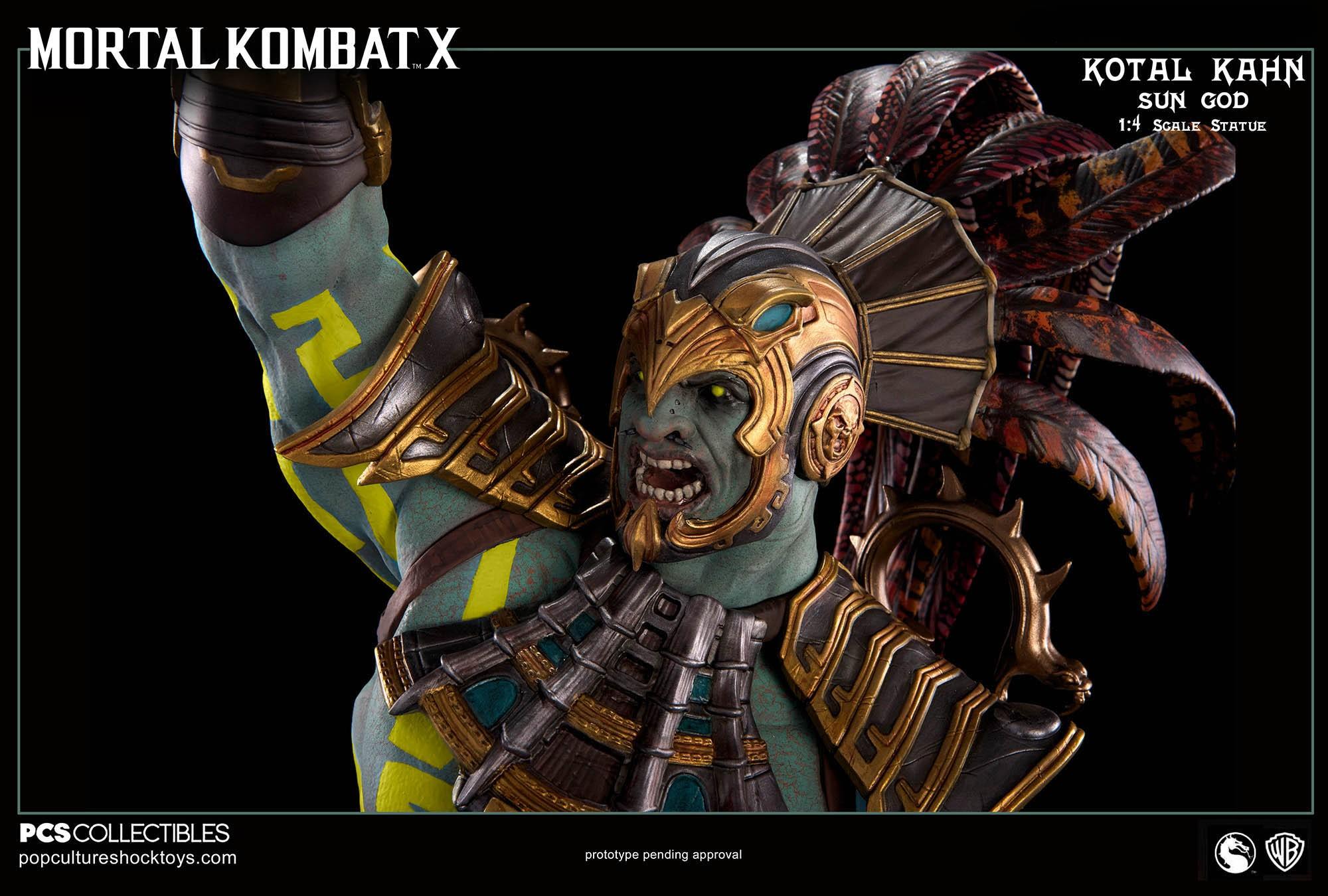 [Pop Culture Shock] Mortal Kombat X: Kotal Kahn 1:4 scale PCS-Kotal-Kahn-Sun-God-026