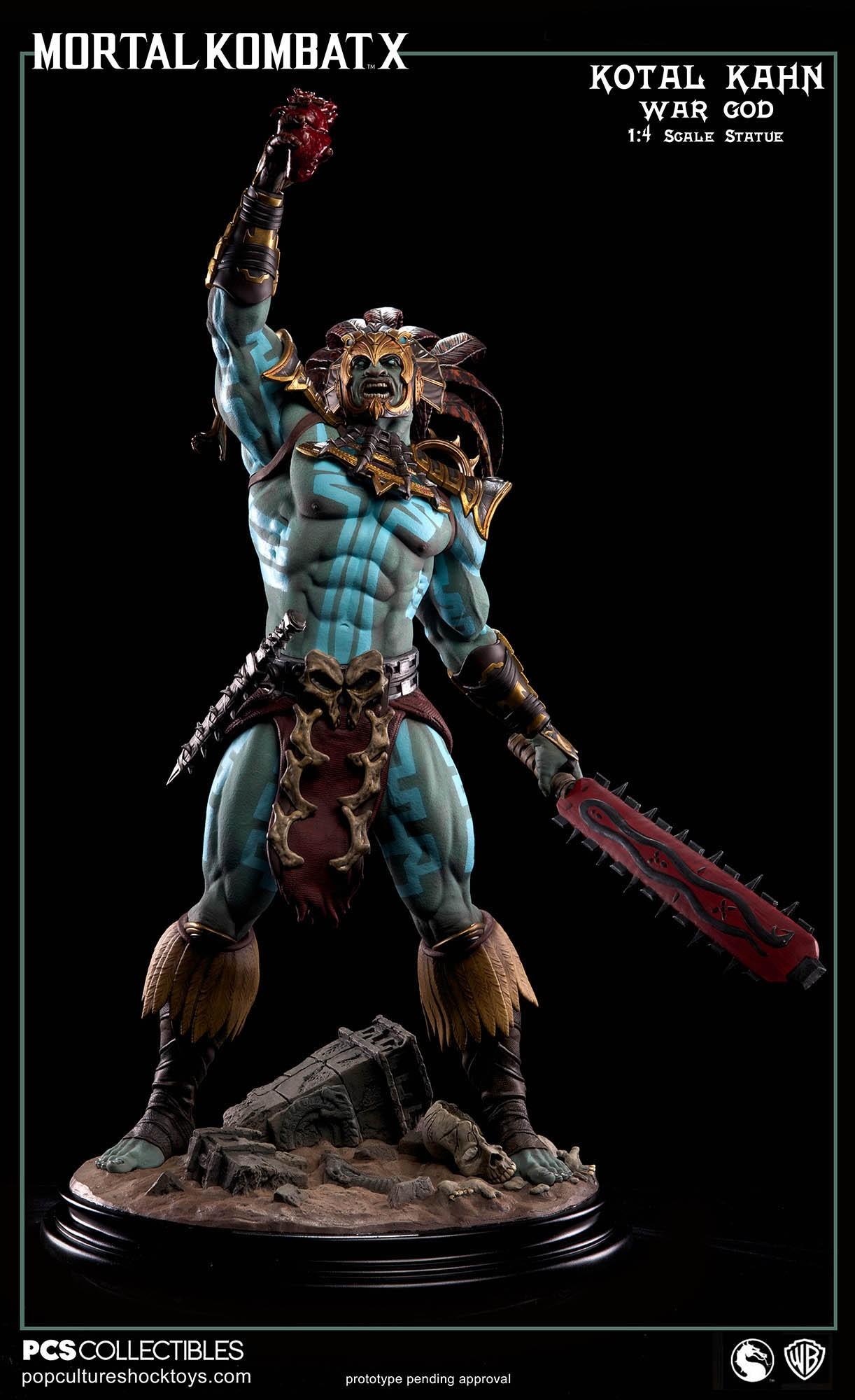 [Pop Culture Shock] Mortal Kombat X: Kotal Kahn 1:4 scale PCS-Kotal-Kahn-War-God-002