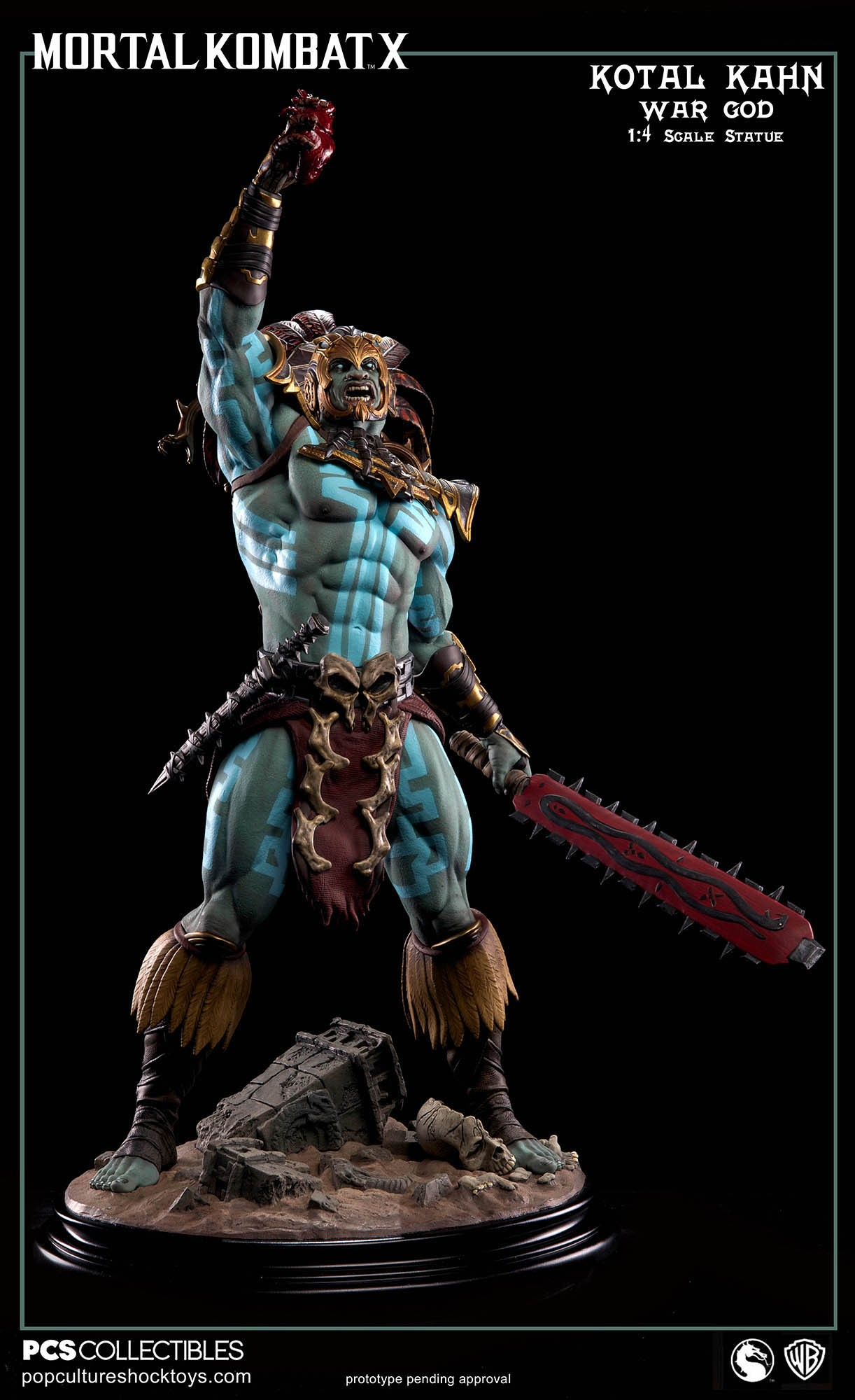 [Pop Culture Shock] Mortal Kombat X: Kotal Kahn 1:4 scale PCS-Kotal-Kahn-War-God-003