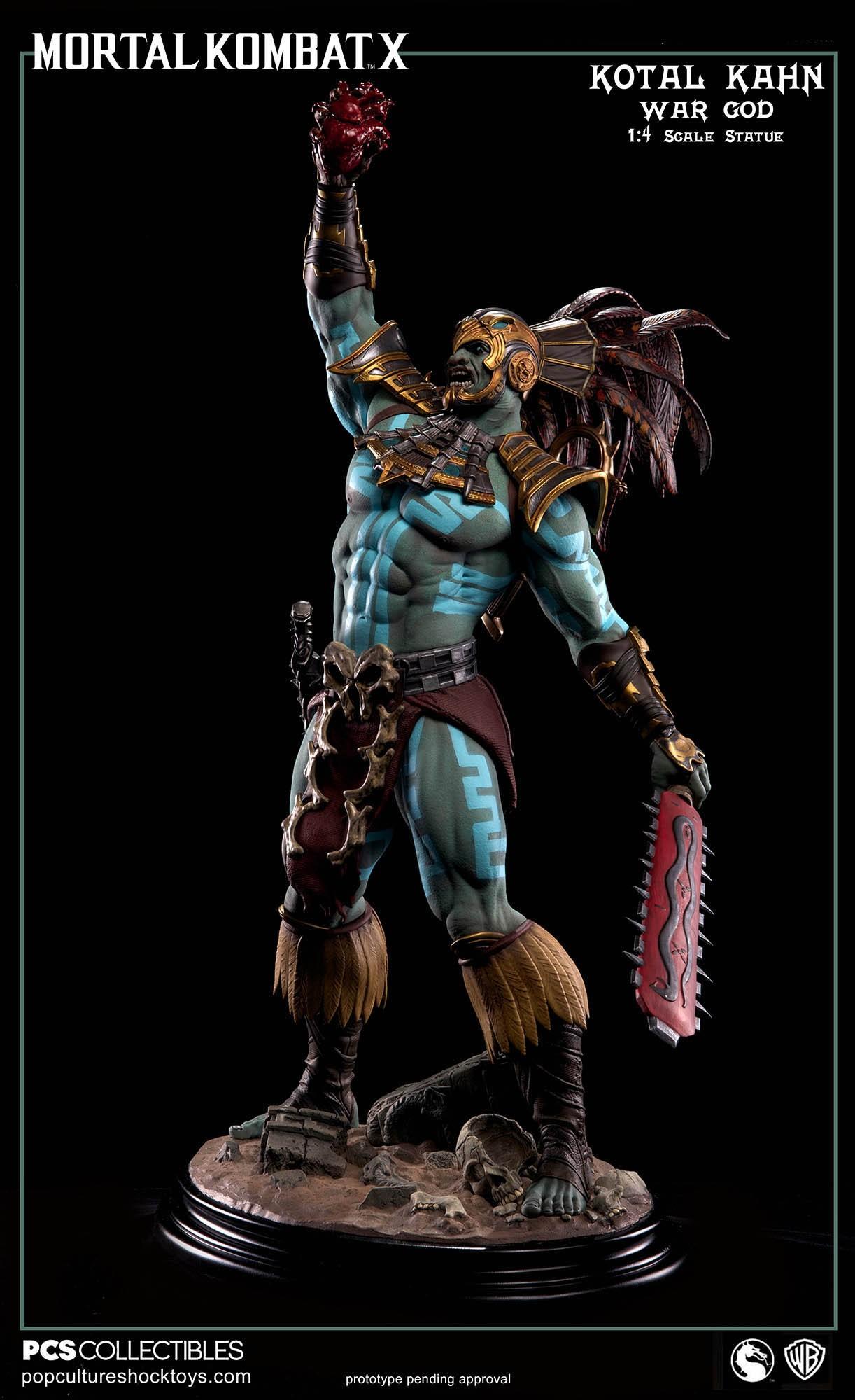 [Pop Culture Shock] Mortal Kombat X: Kotal Kahn 1:4 scale PCS-Kotal-Kahn-War-God-004