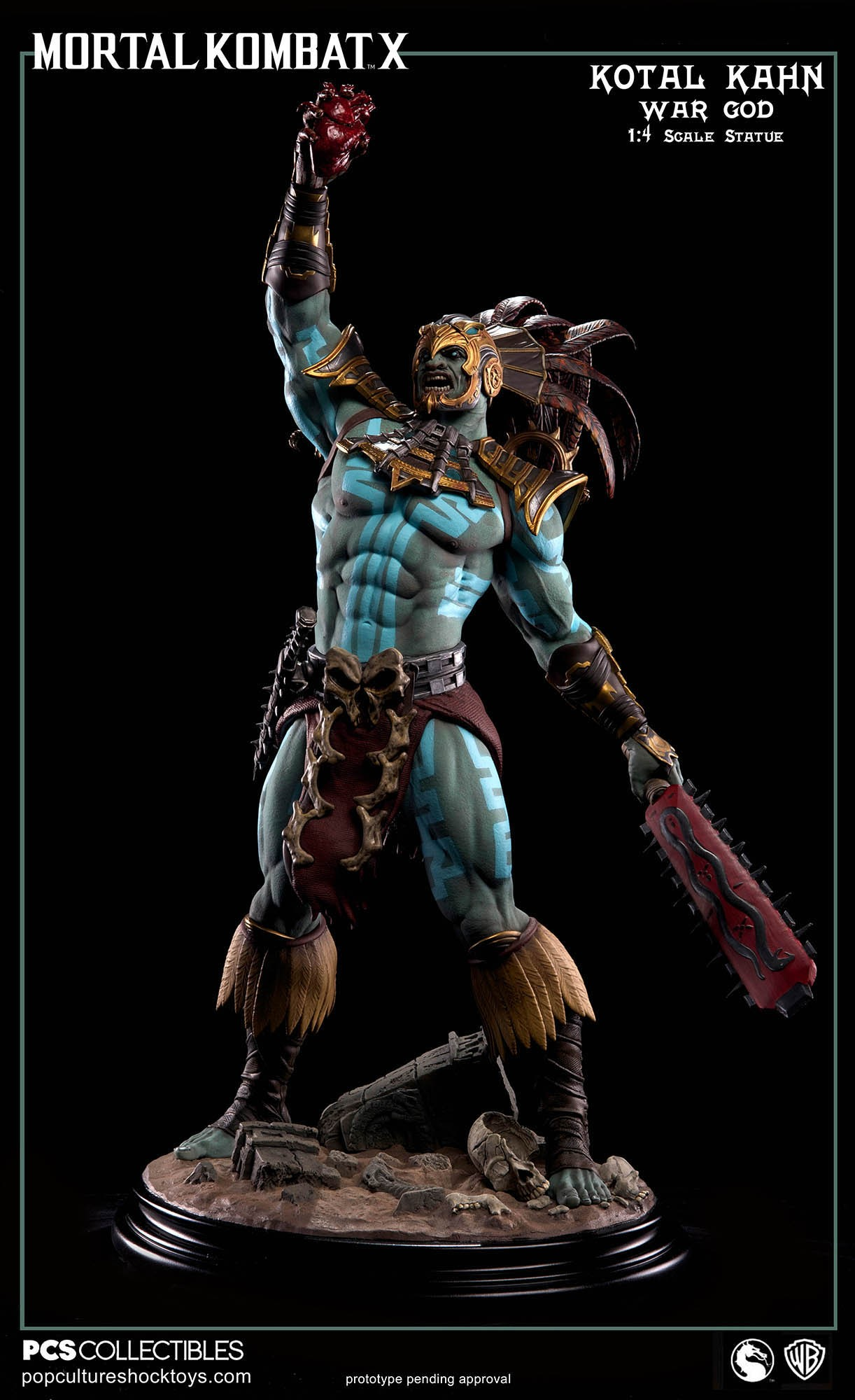 [Pop Culture Shock] Mortal Kombat X: Kotal Kahn 1:4 scale PCS-Kotal-Kahn-War-God-005
