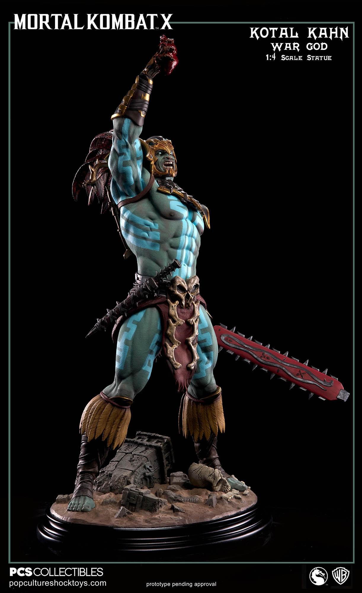 [Pop Culture Shock] Mortal Kombat X: Kotal Kahn 1:4 scale PCS-Kotal-Kahn-War-God-006
