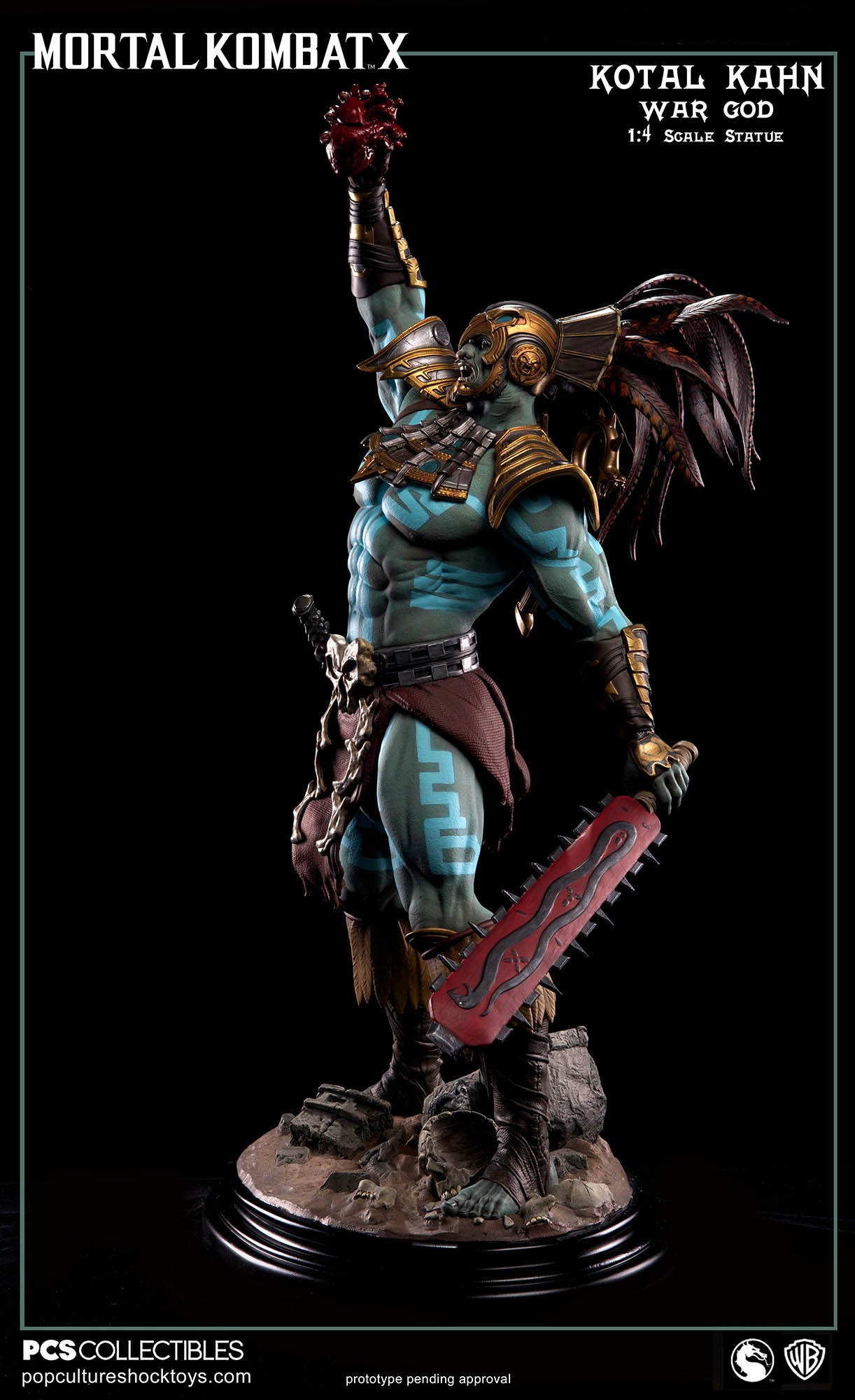 [Pop Culture Shock] Mortal Kombat X: Kotal Kahn 1:4 scale PCS-Kotal-Kahn-War-God-007