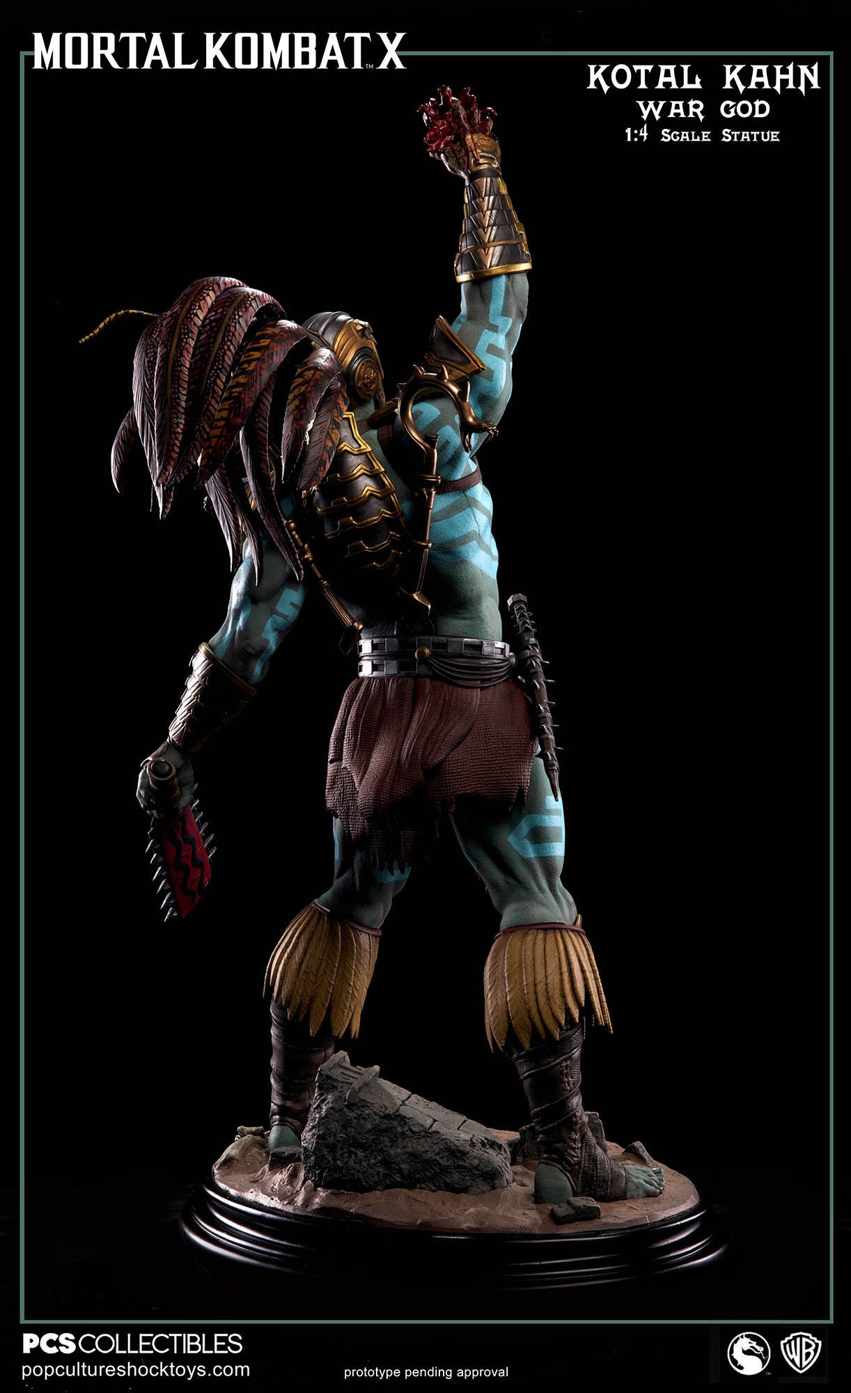 [Pop Culture Shock] Mortal Kombat X: Kotal Kahn 1:4 scale PCS-Kotal-Kahn-War-God-008