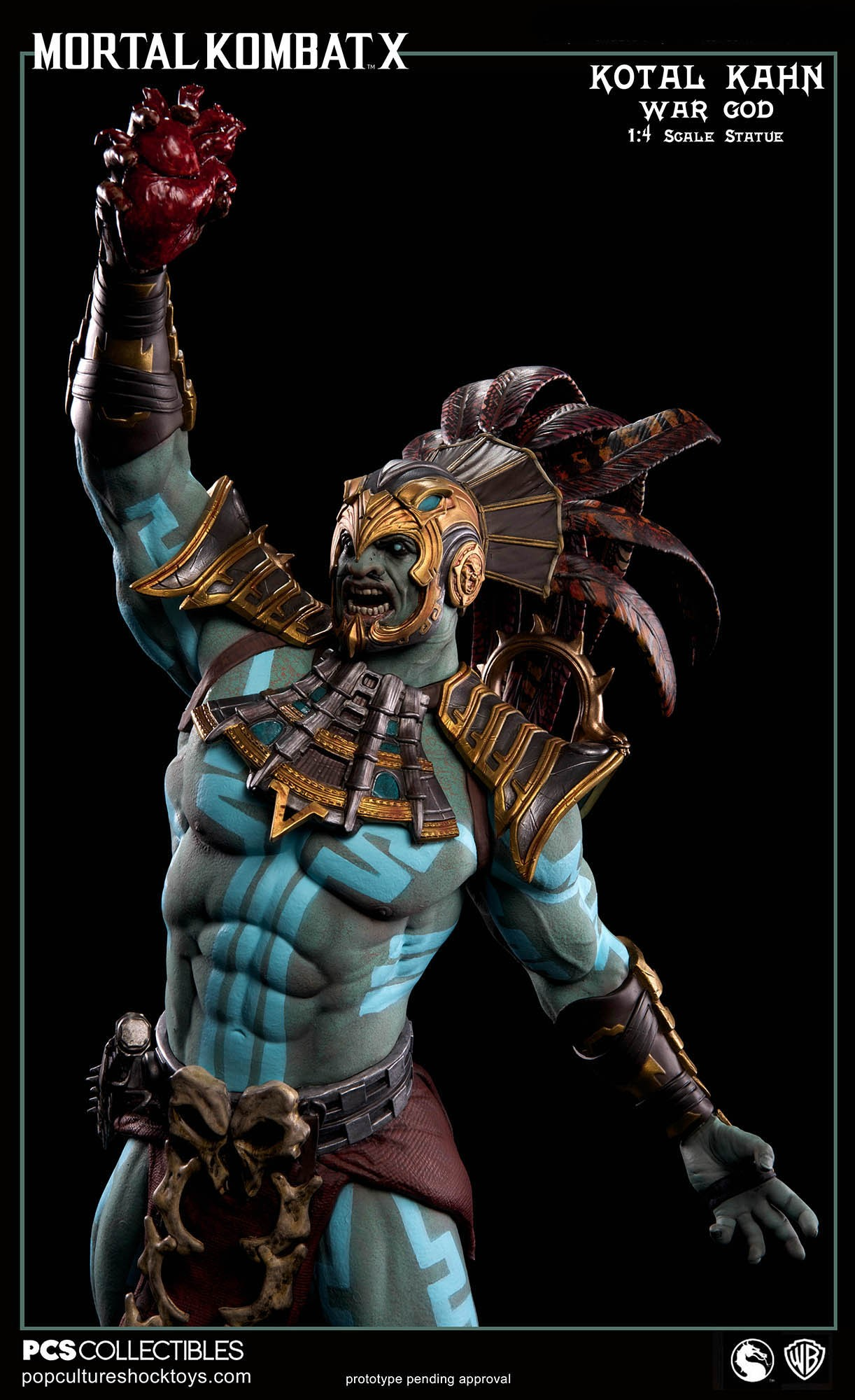 [Pop Culture Shock] Mortal Kombat X: Kotal Kahn 1:4 scale PCS-Kotal-Kahn-War-God-011
