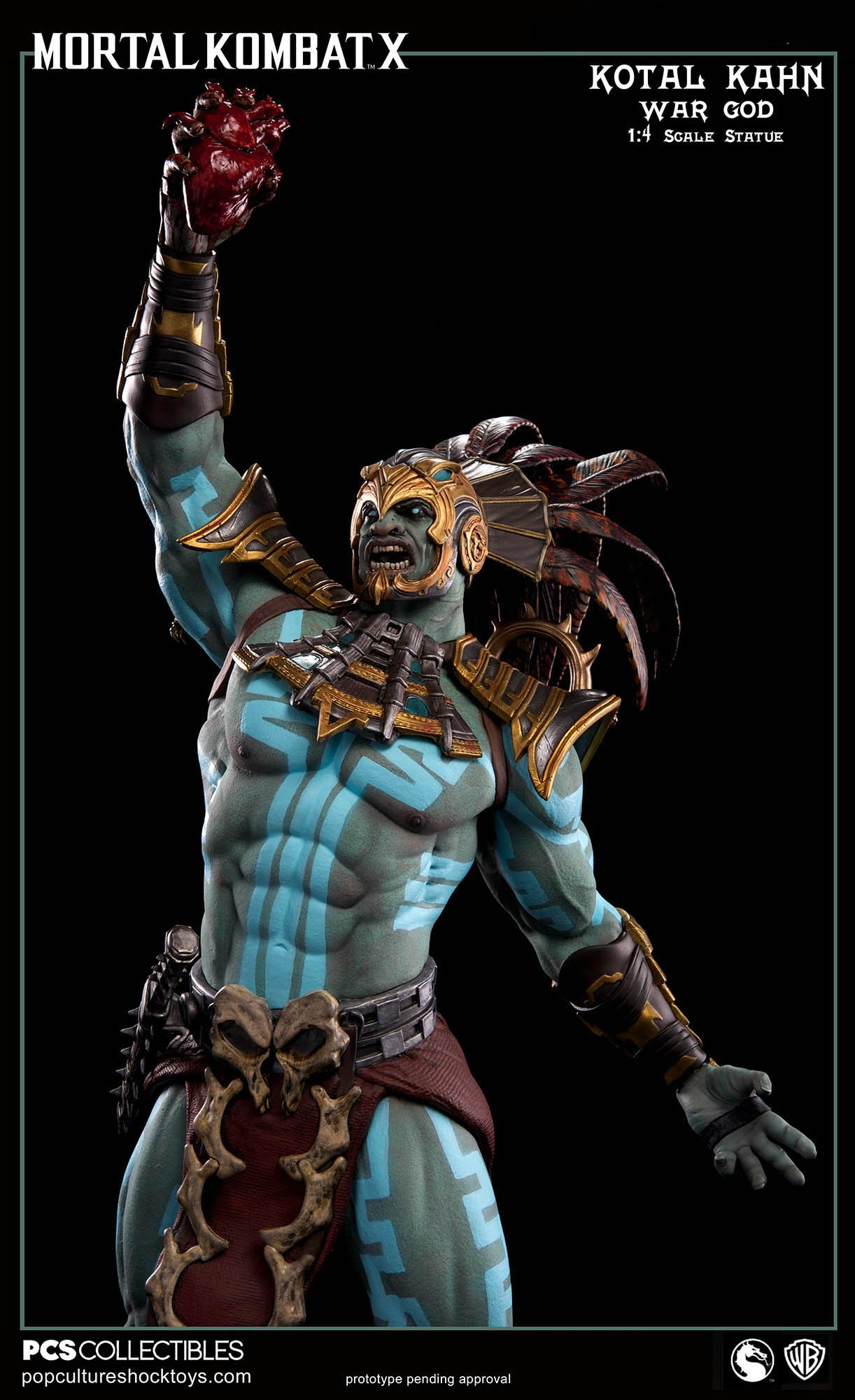 [Pop Culture Shock] Mortal Kombat X: Kotal Kahn 1:4 scale PCS-Kotal-Kahn-War-God-012