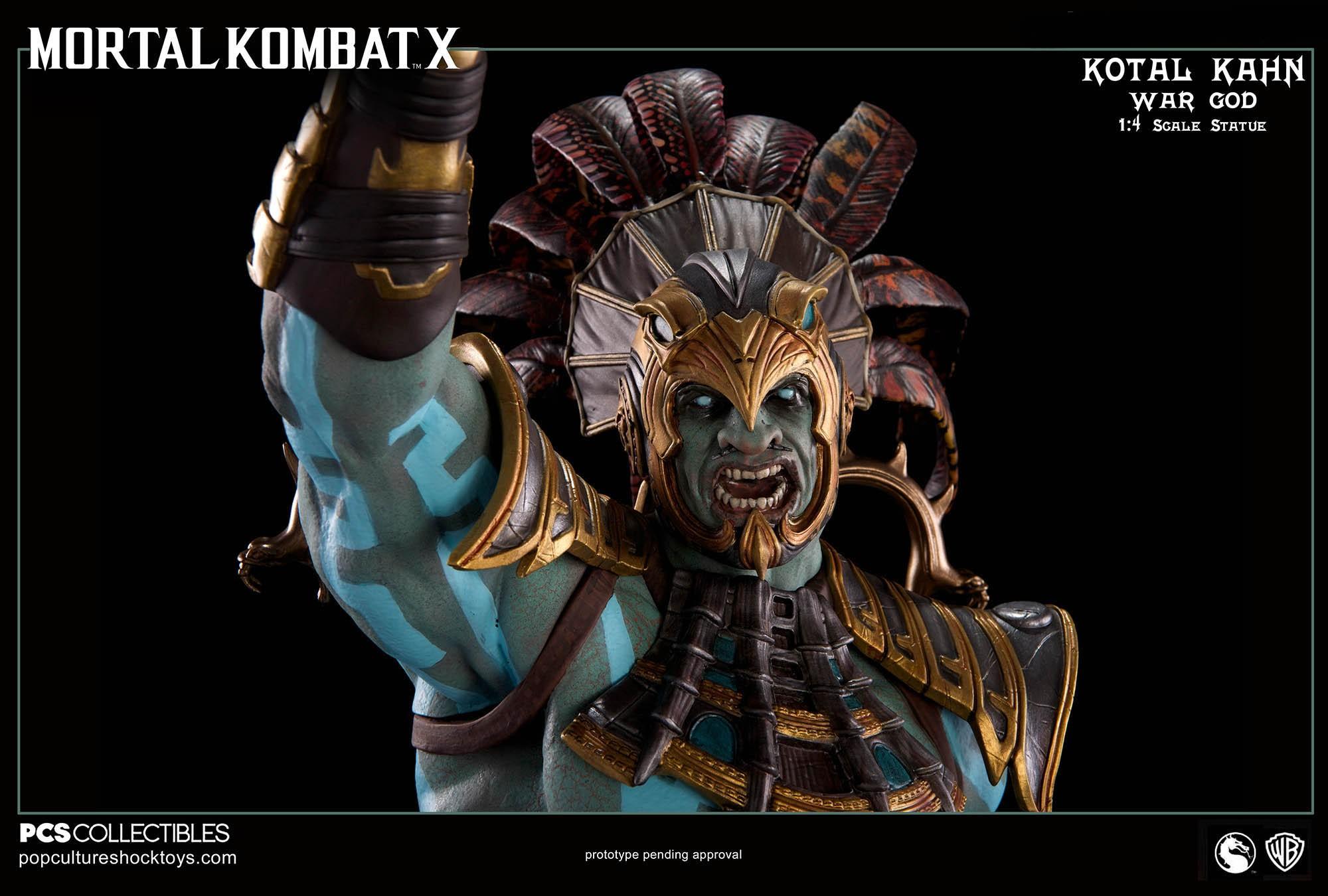 [Pop Culture Shock] Mortal Kombat X: Kotal Kahn 1:4 scale PCS-Kotal-Kahn-War-God-016