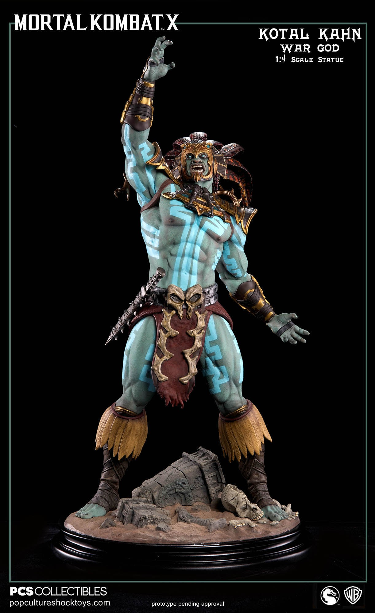 [Pop Culture Shock] Mortal Kombat X: Kotal Kahn 1:4 scale PCS-Kotal-Kahn-War-God-018