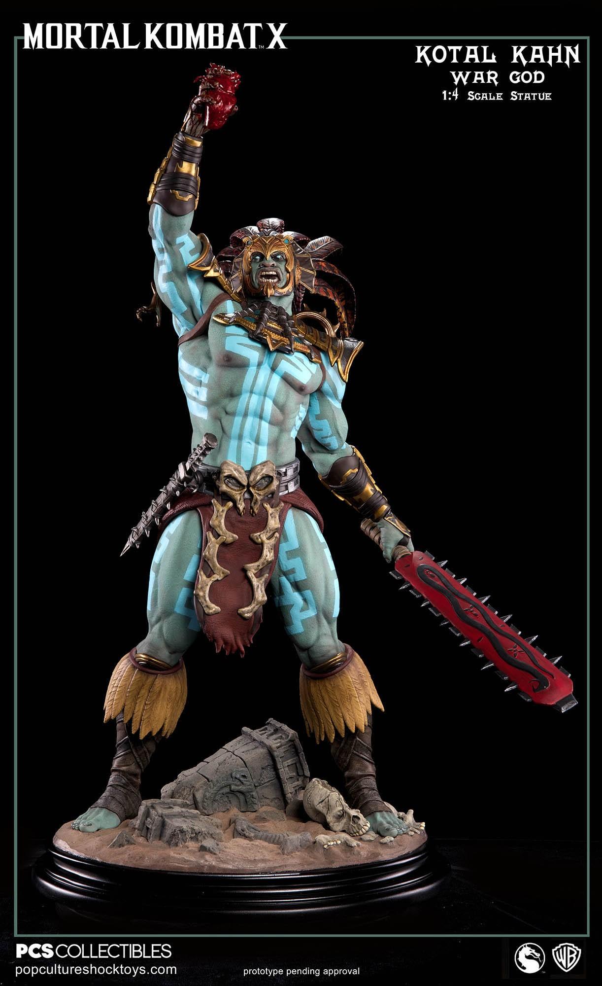 [Pop Culture Shock] Mortal Kombat X: Kotal Kahn 1:4 scale PCS-Kotal-Kahn-War-God-019