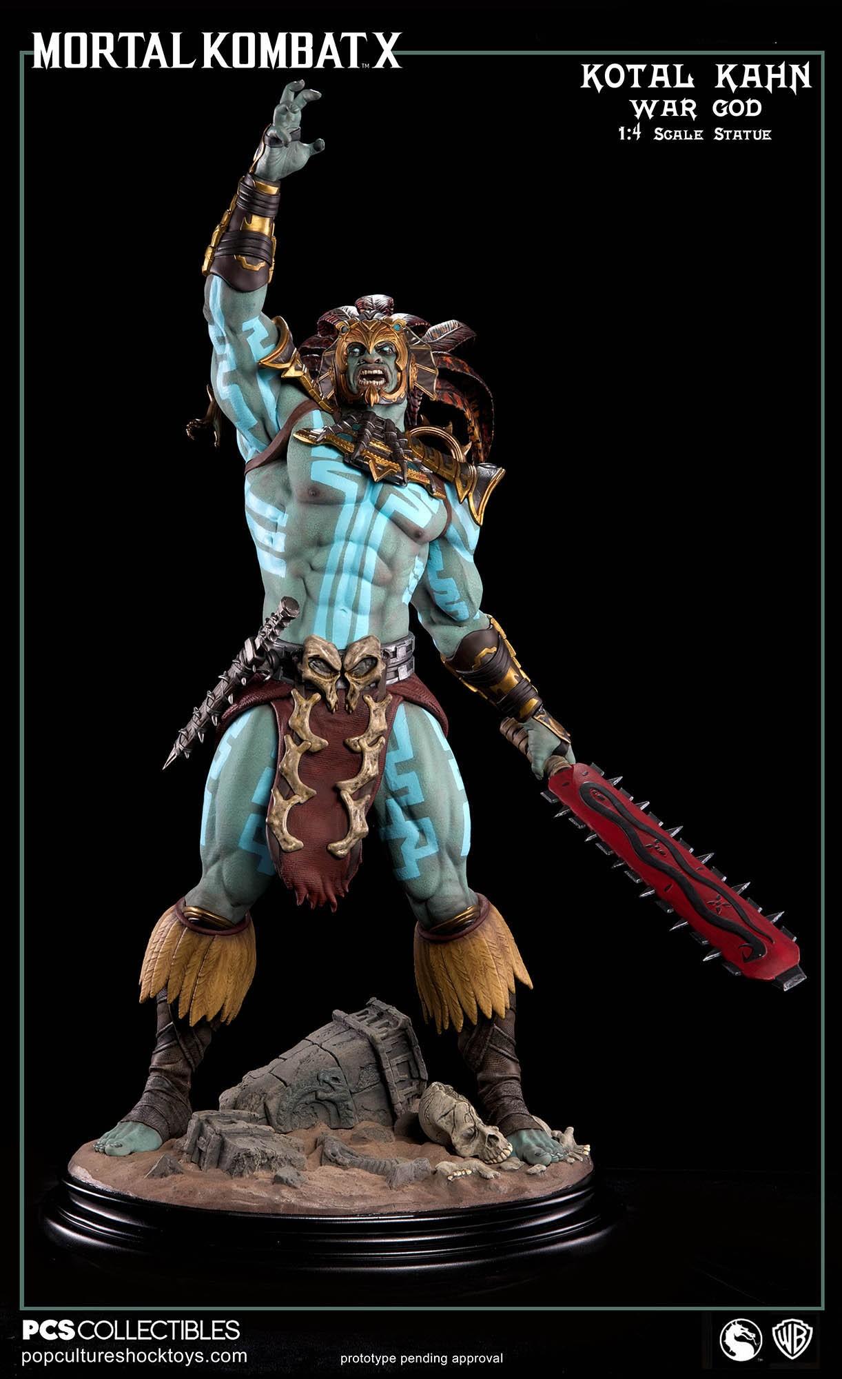 [Pop Culture Shock] Mortal Kombat X: Kotal Kahn 1:4 scale PCS-Kotal-Kahn-War-God-020