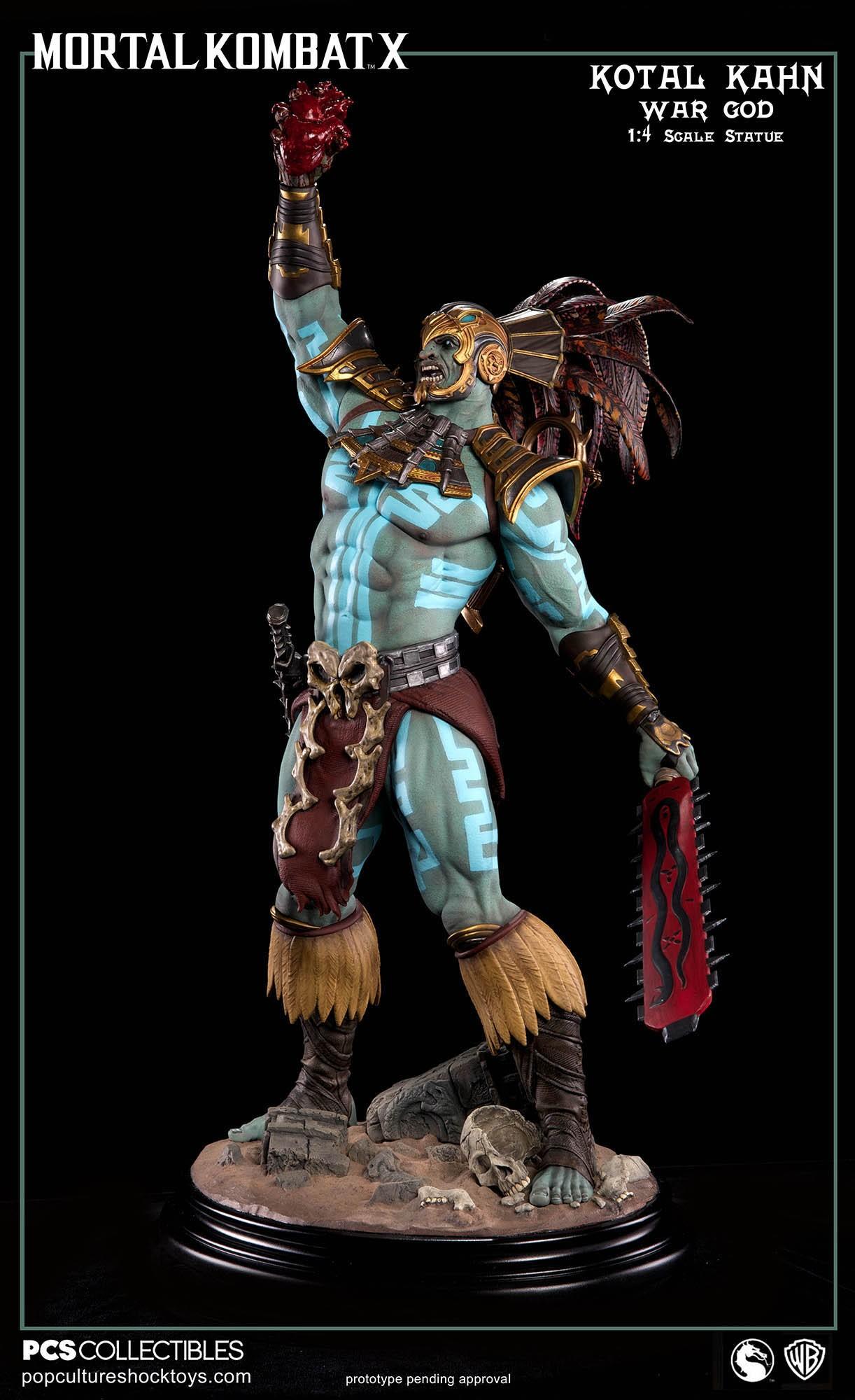 [Pop Culture Shock] Mortal Kombat X: Kotal Kahn 1:4 scale PCS-Kotal-Kahn-War-God-021