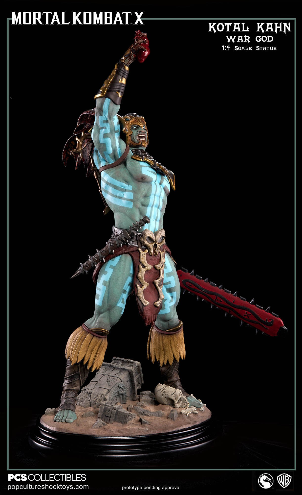 [Pop Culture Shock] Mortal Kombat X: Kotal Kahn 1:4 scale PCS-Kotal-Kahn-War-God-022