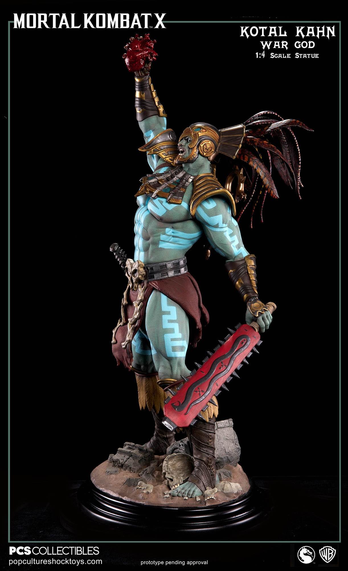 [Pop Culture Shock] Mortal Kombat X: Kotal Kahn 1:4 scale PCS-Kotal-Kahn-War-God-023