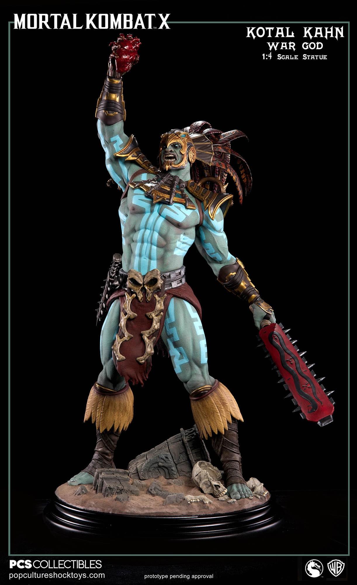 [Pop Culture Shock] Mortal Kombat X: Kotal Kahn 1:4 scale PCS-Kotal-Kahn-War-God-024