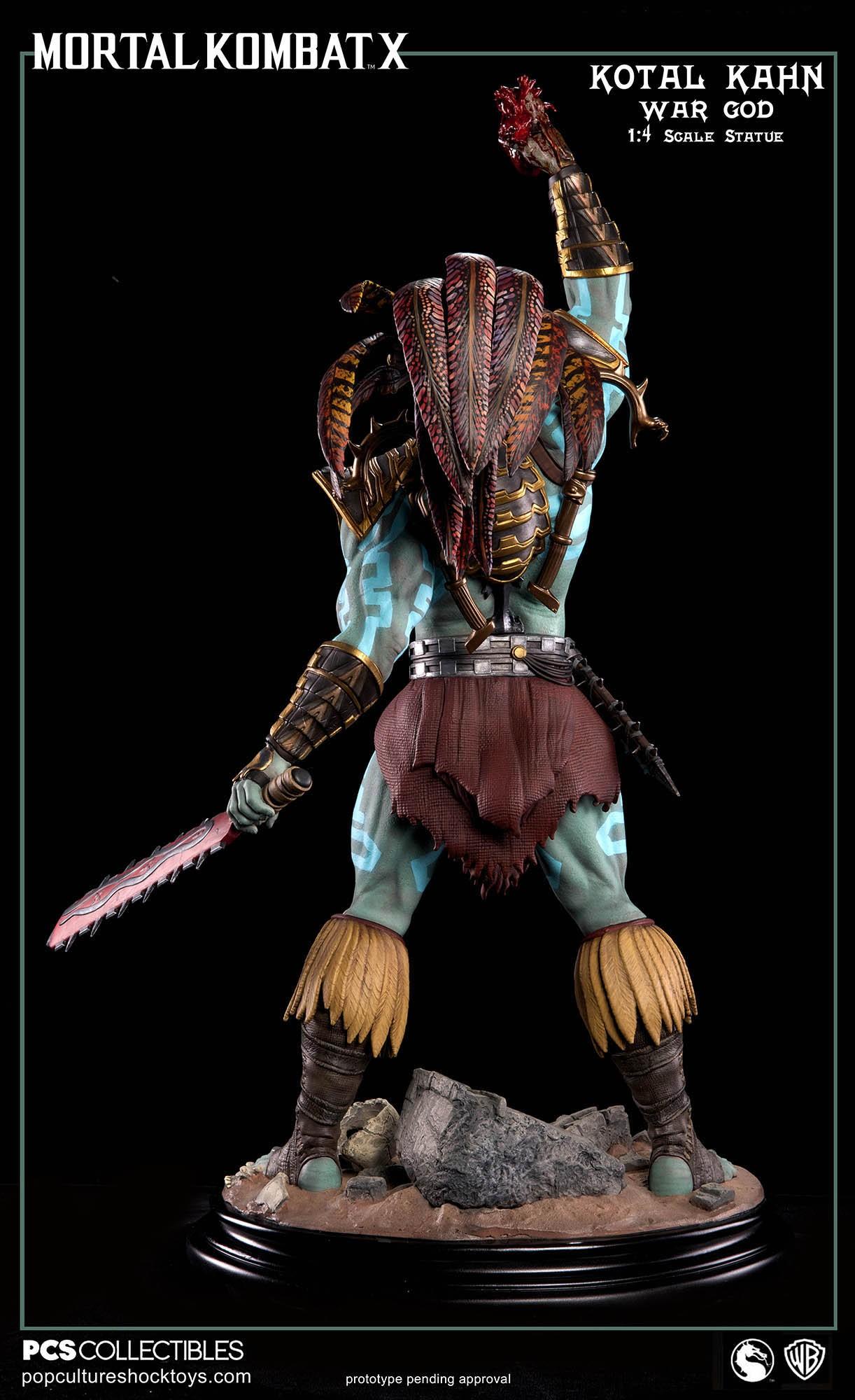 [Pop Culture Shock] Mortal Kombat X: Kotal Kahn 1:4 scale PCS-Kotal-Kahn-War-God-025