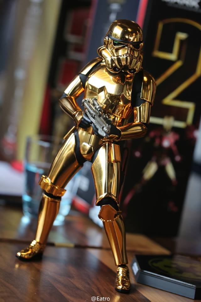 Hot Toys Star Wars 1/6 Scale Gold Stormtrooper Figure Hot-Toys-Gold-Stormtrooper-Display-002