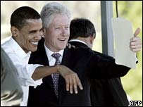 A black man in the White House? _42699573_barack_bill_afp203b