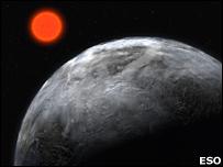 اكتشاف كوكب شبيه بكوكبنا في اعماق الفضاء  _42842025_planet_eso_203b