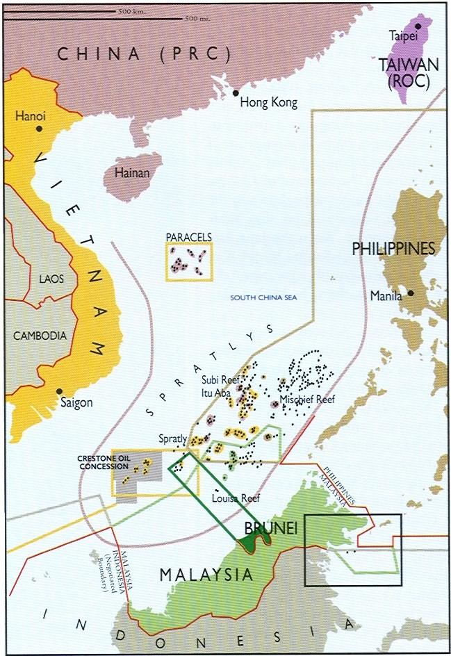 Tương quan lực lượng quân sự tại Biển Đông  Claims%202