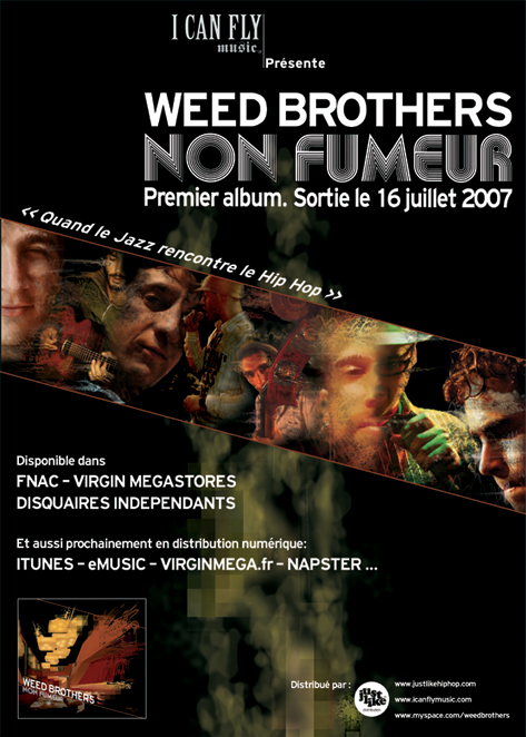 Weed Brothers, quand le Jazz rencontre le Hip Hop Weed-affiche-sortie-albumDEF-light
