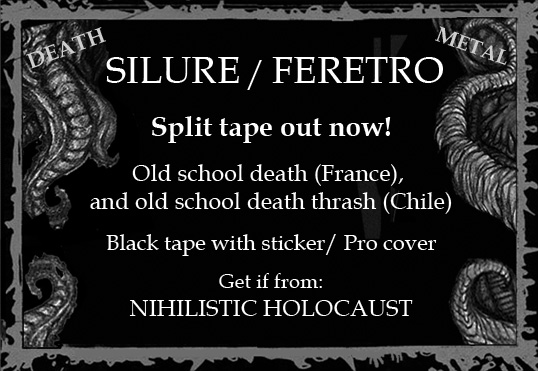 SILURE / FERETRO Split tape out now! (Death metal) Silure_flyer