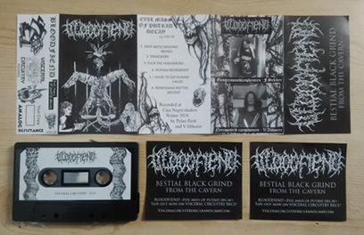 BLOODFIEND - Evil mass of putrid decay Tape out now! (Black death) Bloodfiend_promo_web
