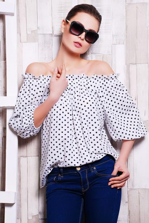 NIKO-Opt - Более 520 моделей женской одежды от производителя! опт от 3-х едениц! Bluzka-krestyanka-bz-1134c