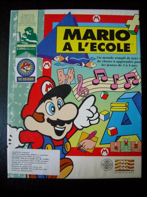Aide pour la réalisation d'une liste des jeux mario en FAH Logiciel-PC-Mario-A-L_Ecole