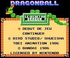 Dragon Ball ( Nes ) DragonBall_Titre