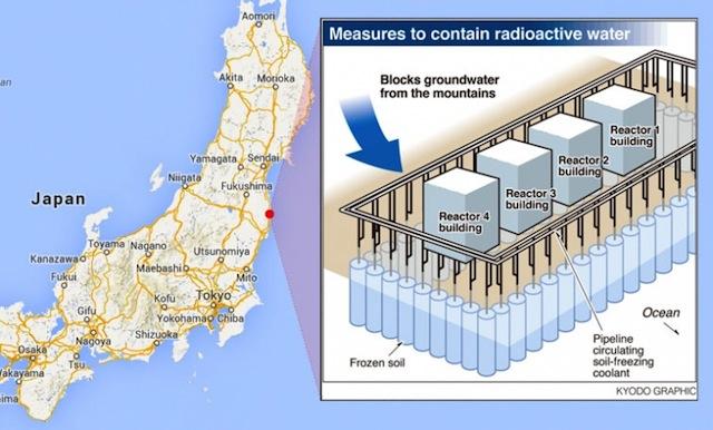 La muralla de hielo anti-radiactividad en Fukushima Muro-hielo-fukushima
