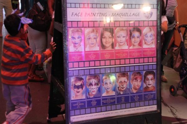 Facepainting / Maquillage sur les Parcs Facepaintingp